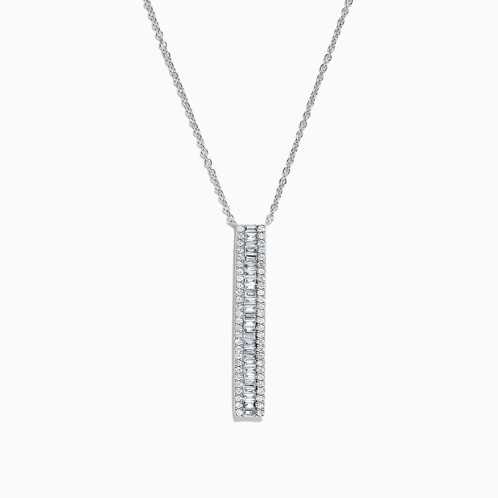 Effy Classique 14K White Gold Diamond Necklace, 0.61 TCW