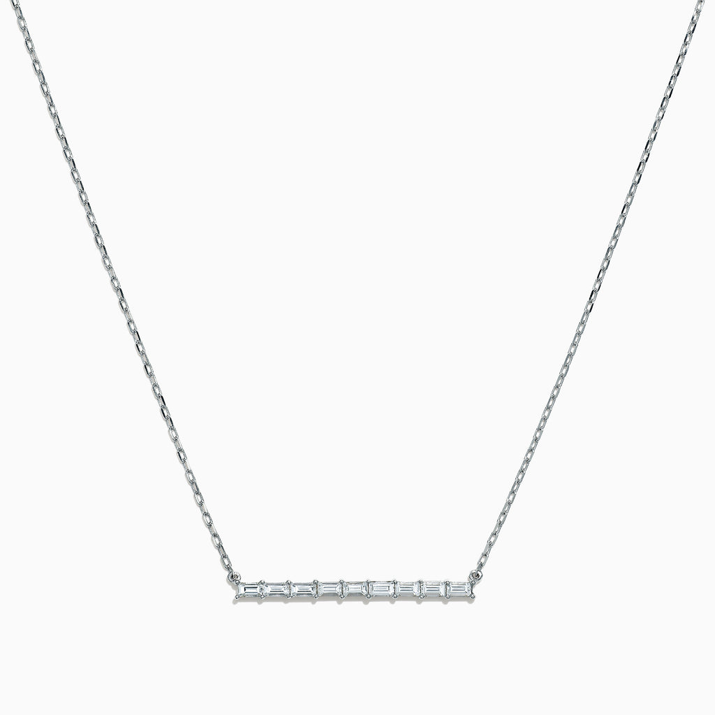 Effy Classique 14K White Gold Diamond Bar Necklace, 0.37 TCW