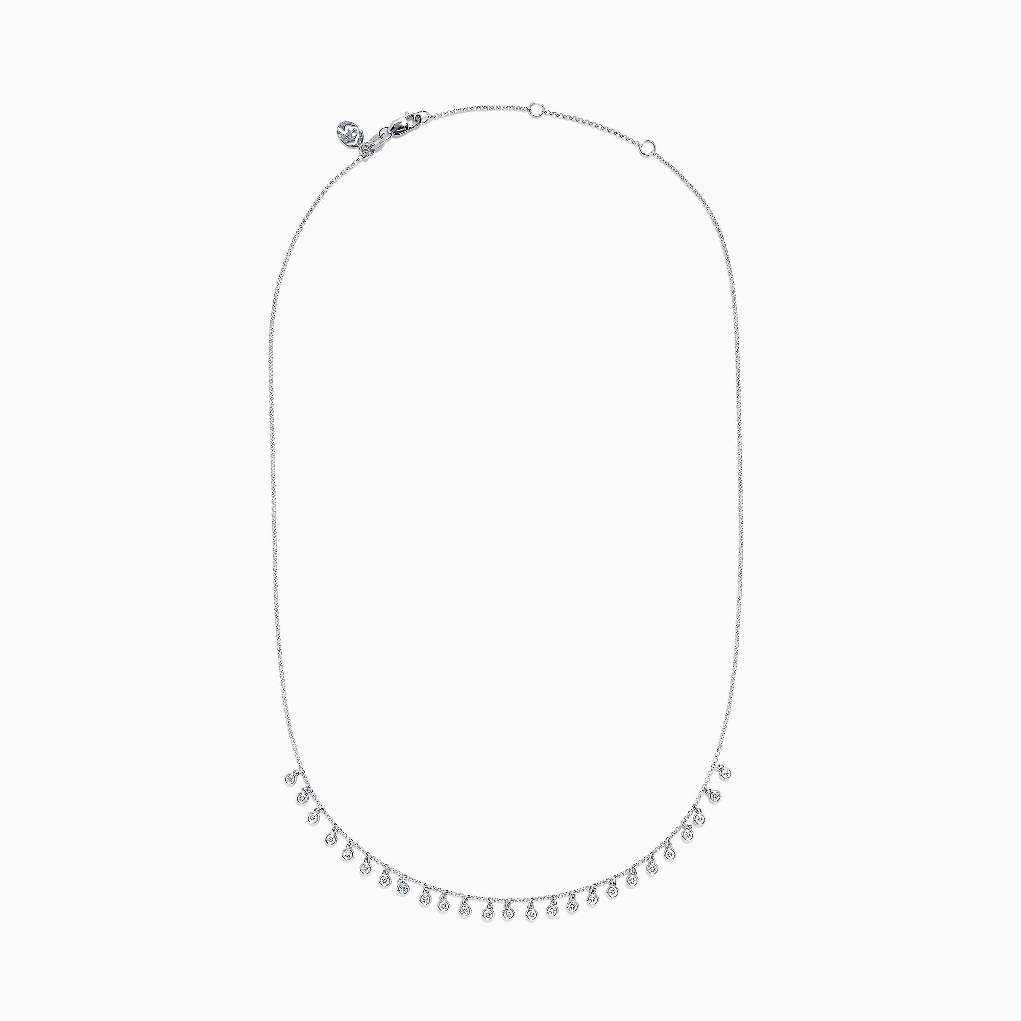 Effy Pave Classica 14K White Gold Diamond Necklace, 0.74 TCW
