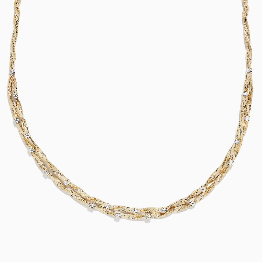 Effy D'Oro 14K Yellow Gold Diamond Necklace, 1.21 TCW