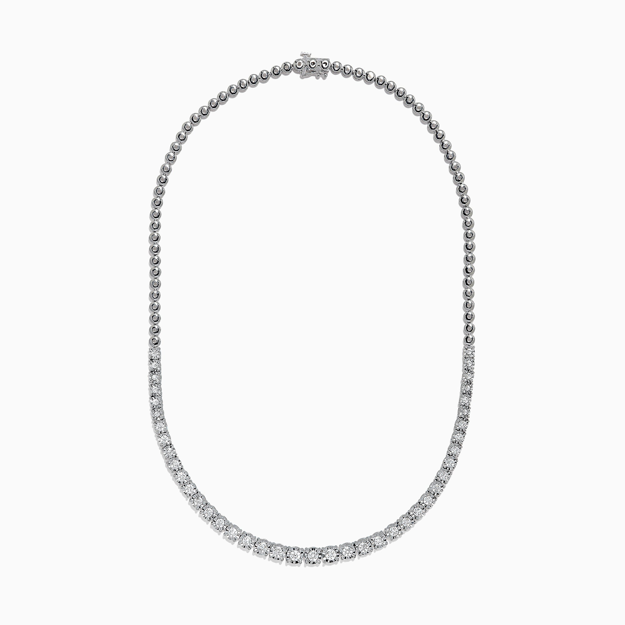 Effy 925 Sterling Silver Diamond Necklace, 0.31 TCW