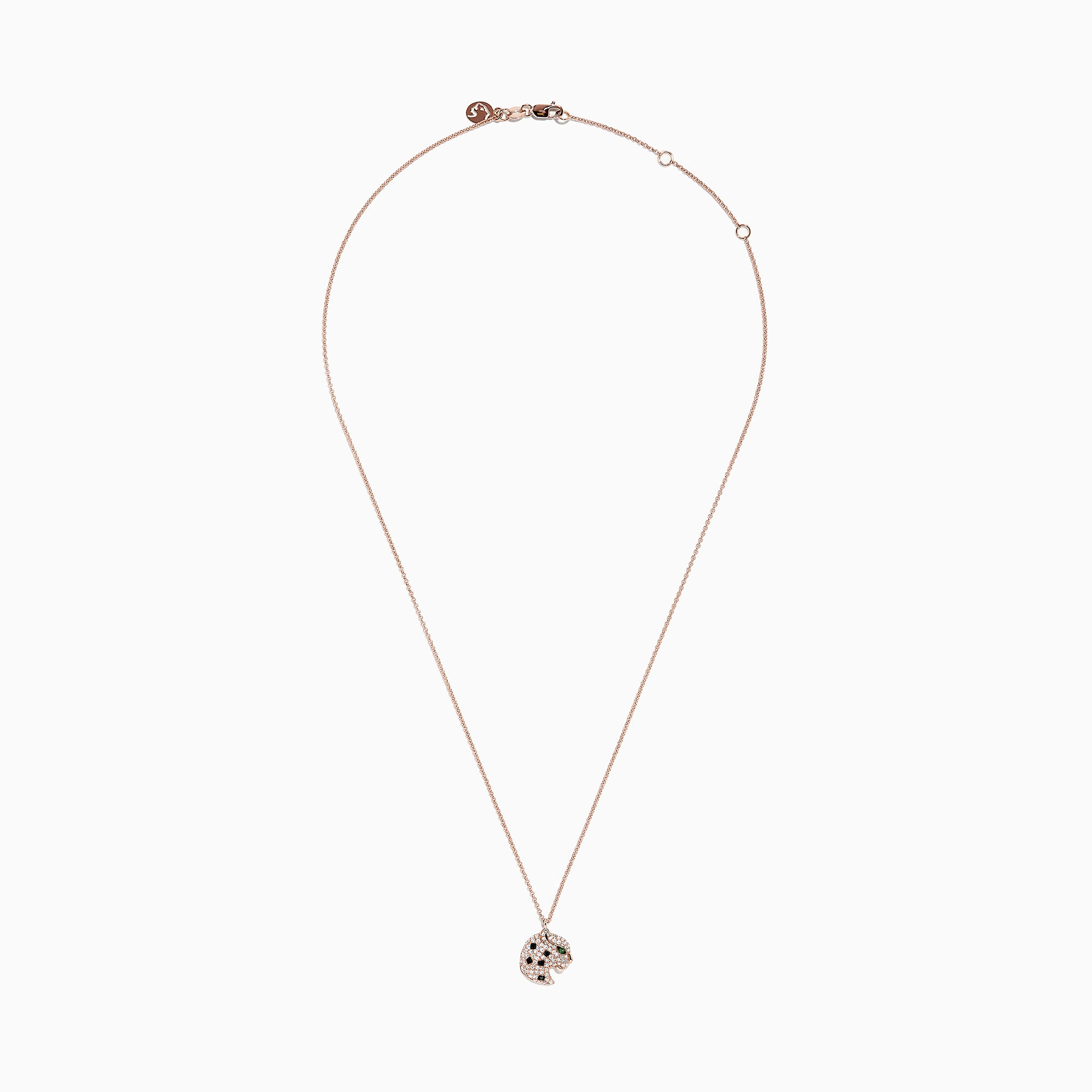 Effy Signature 14K Rose Gold Diamond & Tsavorite Panther Pendant, 0.31 TCW