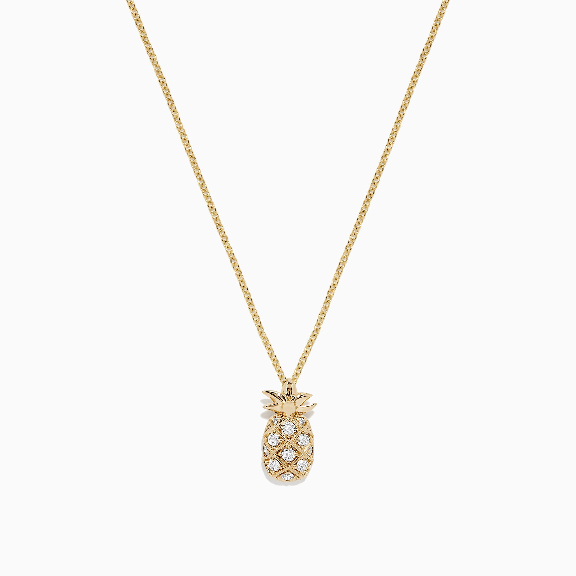 Effy Novelty 14K Yellow Gold Diamond Pineapple Pendant, 0.26 TCW