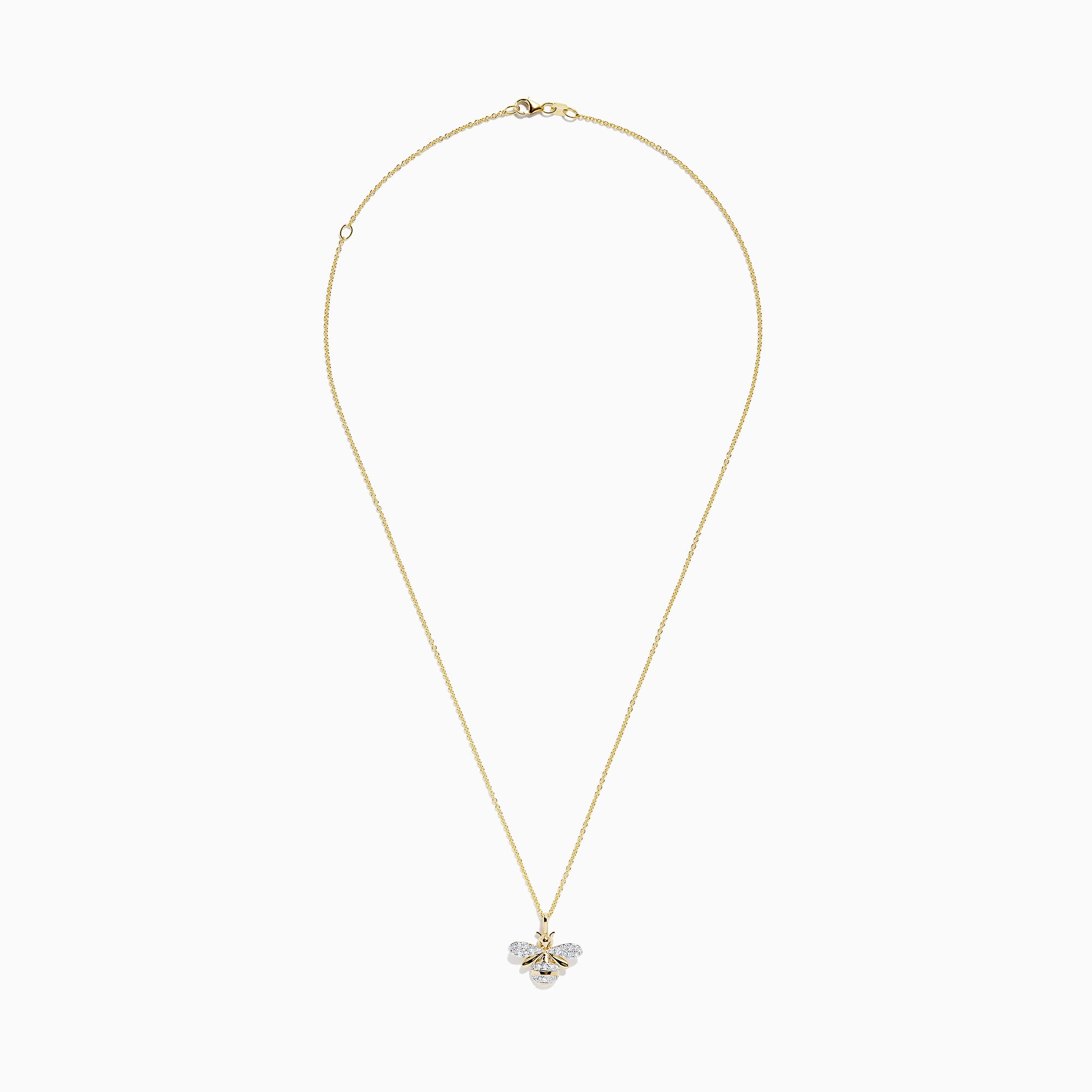 Effy Novelty 14K Yellow Gold Diamond Bee Pendant, 0.26 TCW