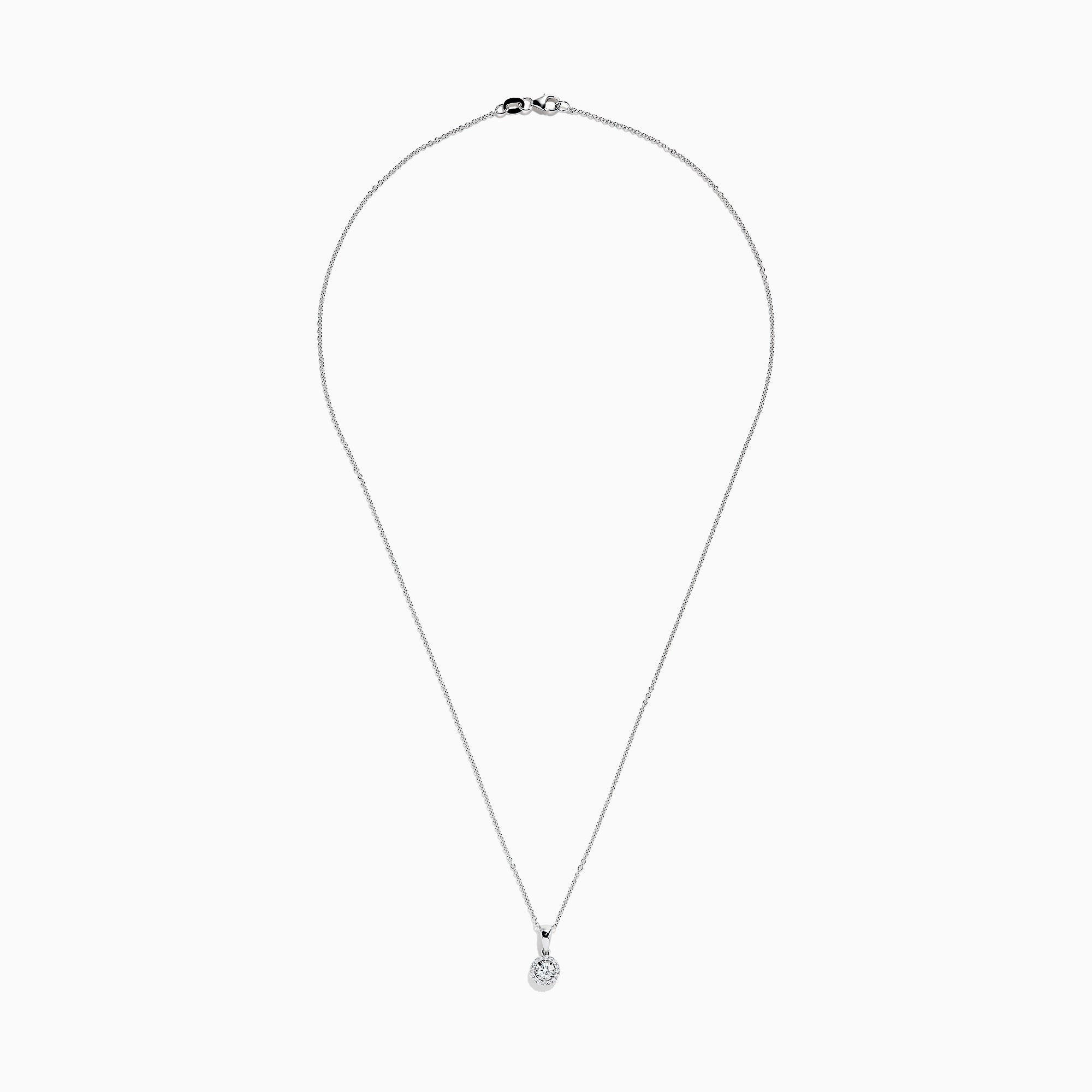 Effy 14K White Gold Diamond Pendant, 0.24 TCW