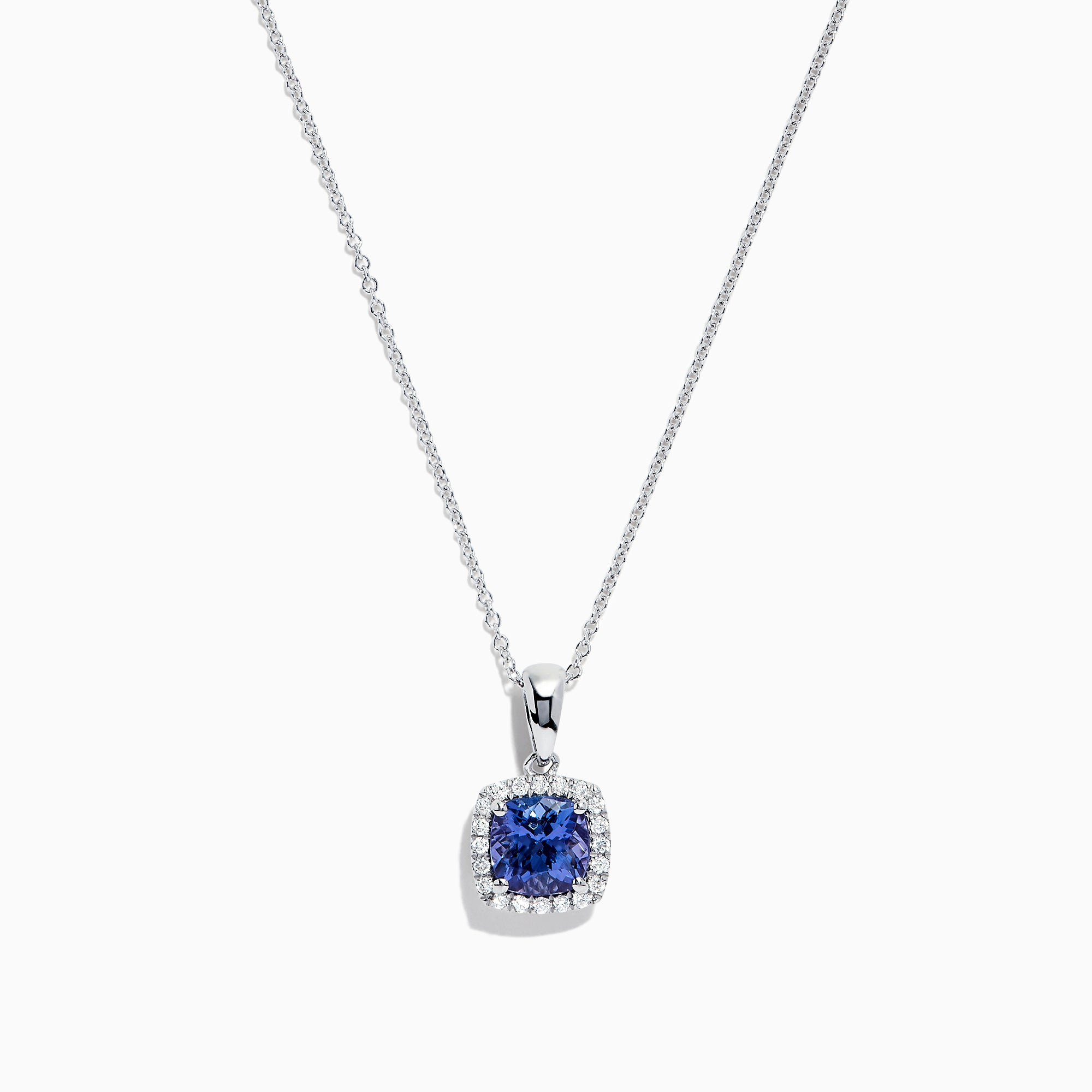 Effy Tanzanite Royale Sterling Silver Tanzanite and Diamond Pendant, 1.59 TCW