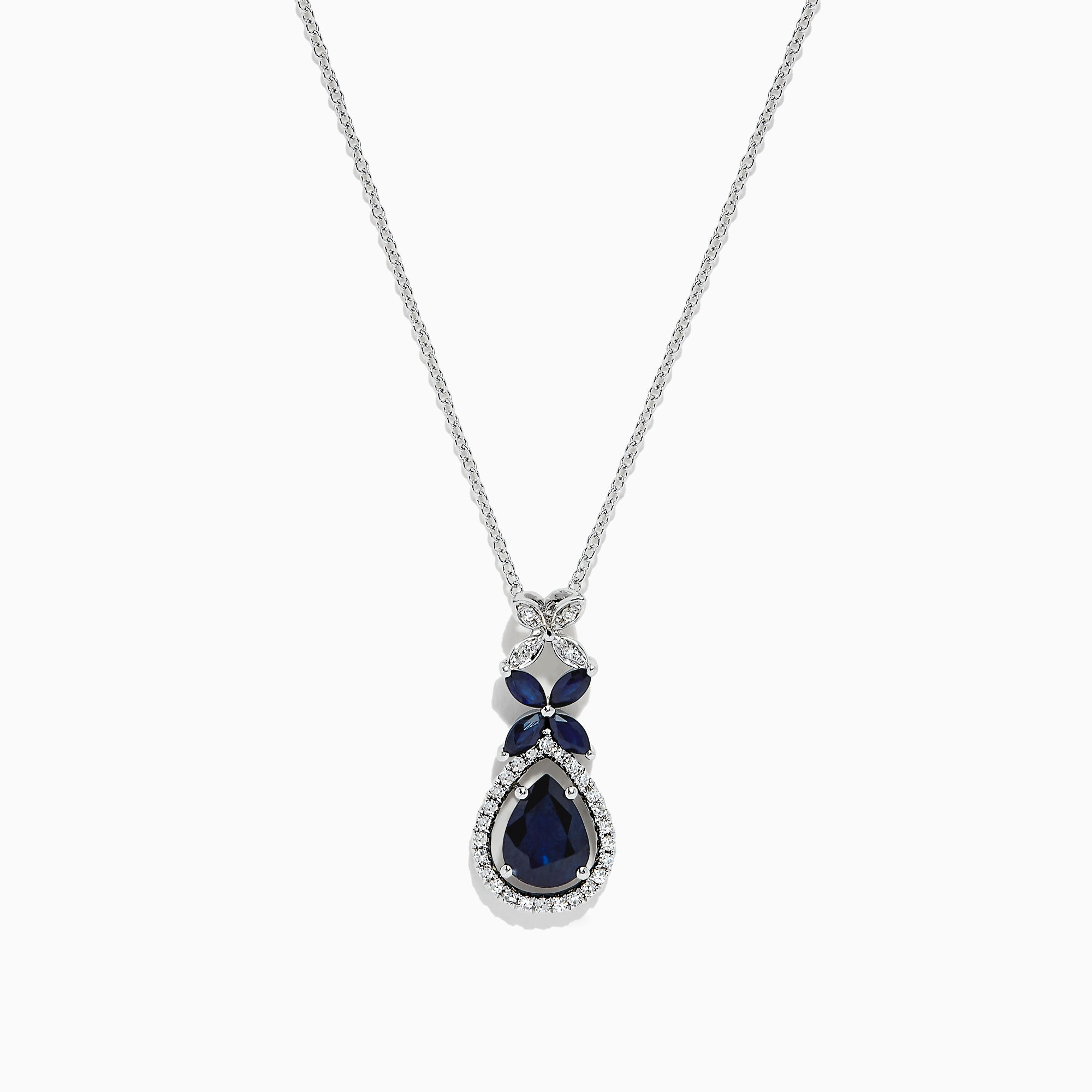 Effy Royale Bleu 14K White Gold Sapphire and Diamond Pendant, 1.65 TCW