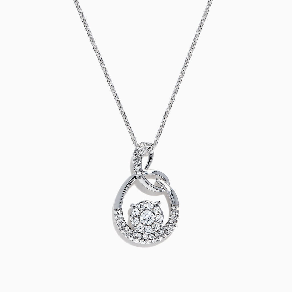 Effy Bouquet 14K White Gold Diamond Pendant, 0.53 TCW