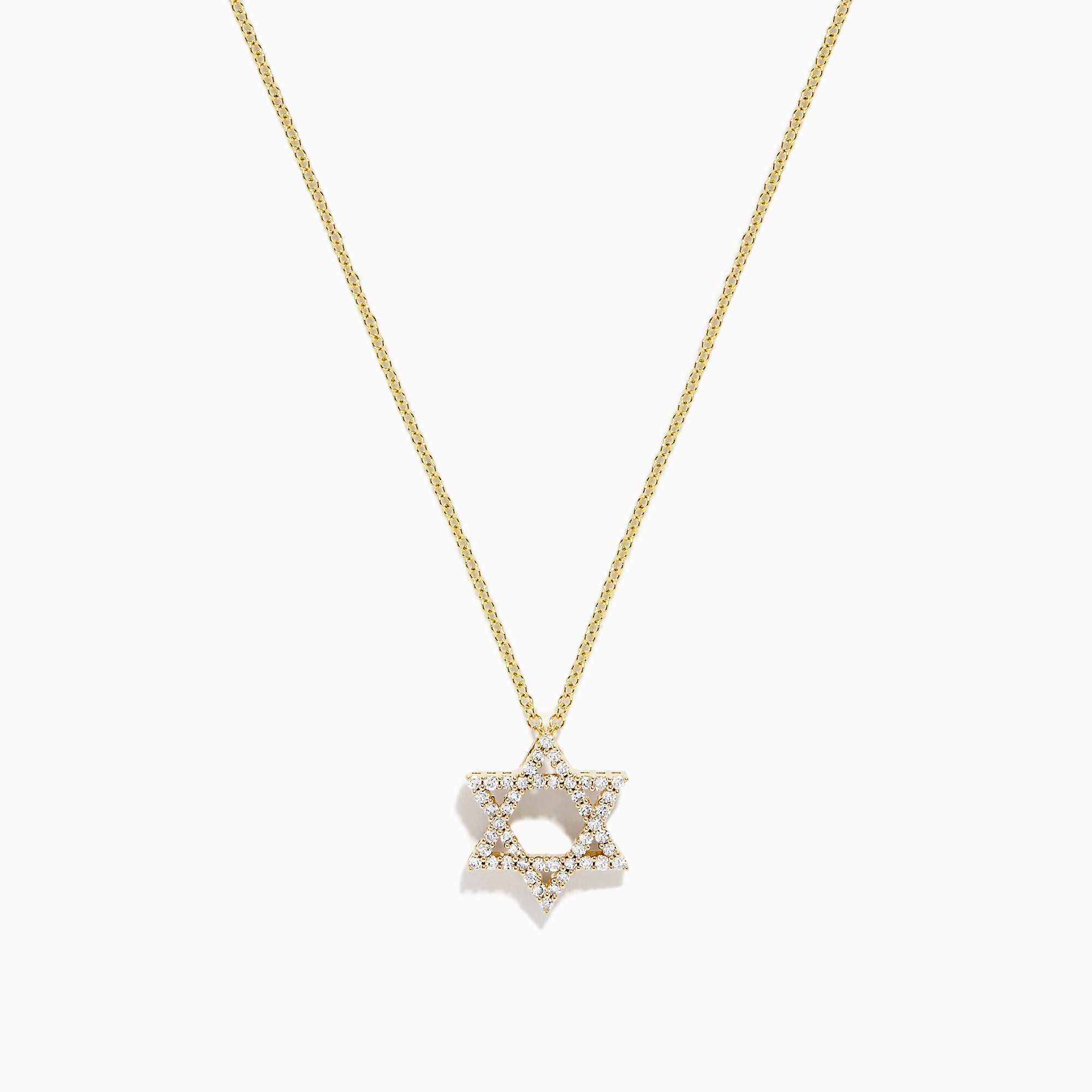 Effy 14K Yellow Gold Diamond Star of David Pendant, 0.24 TCW