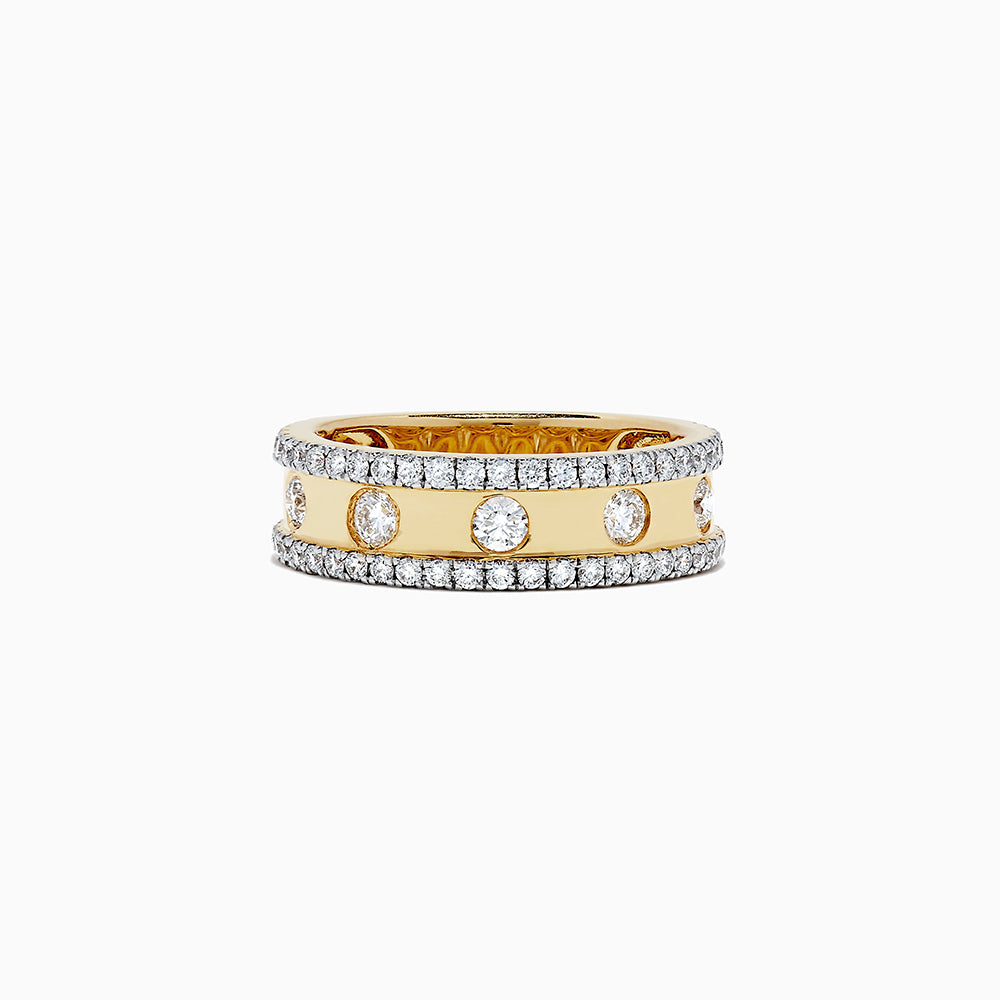 18K Yellow Gold Diamond Ring, 1.05 TCW