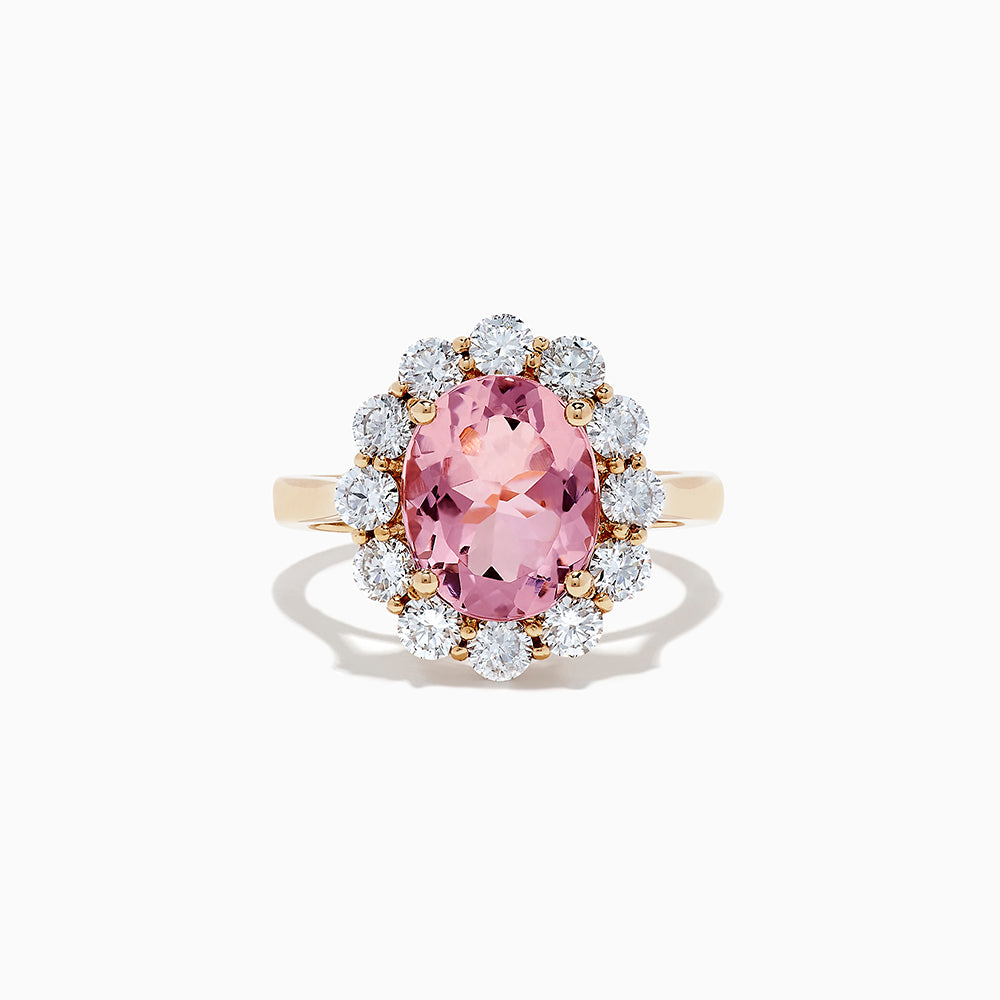 18K Rose Gold Morganite and Diamond Ring, 4.34 TCW
