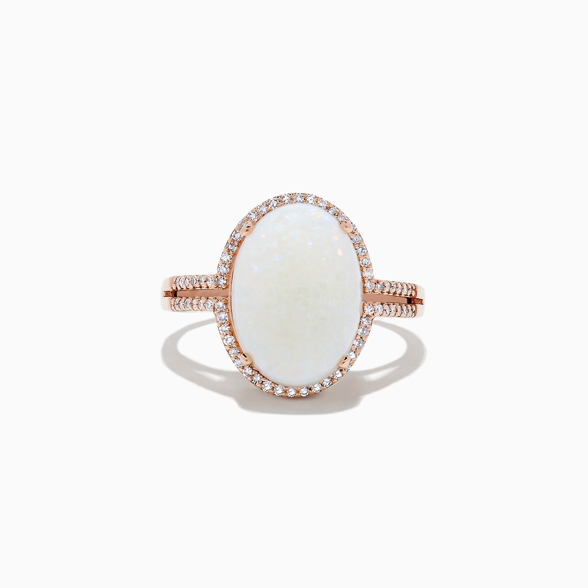 Effy 14K Rose Gold Opal and Diamond Cocktail Ring, 3.30 TCW