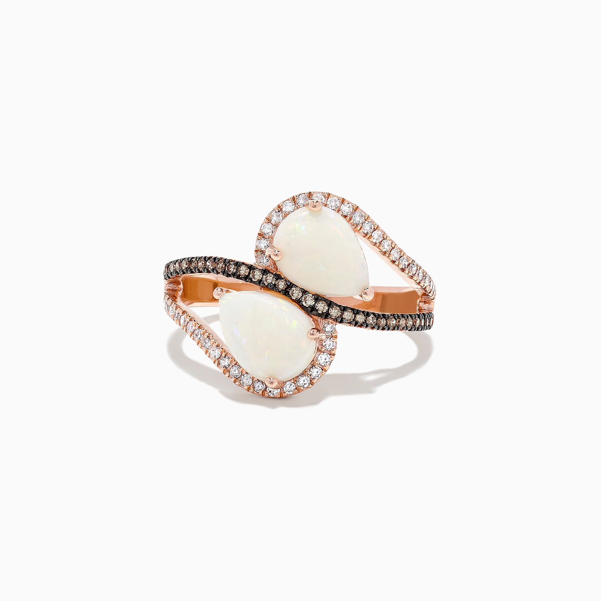 Effy 14K Rose Gold Opal and Diamond Ring, 1.71 TCW