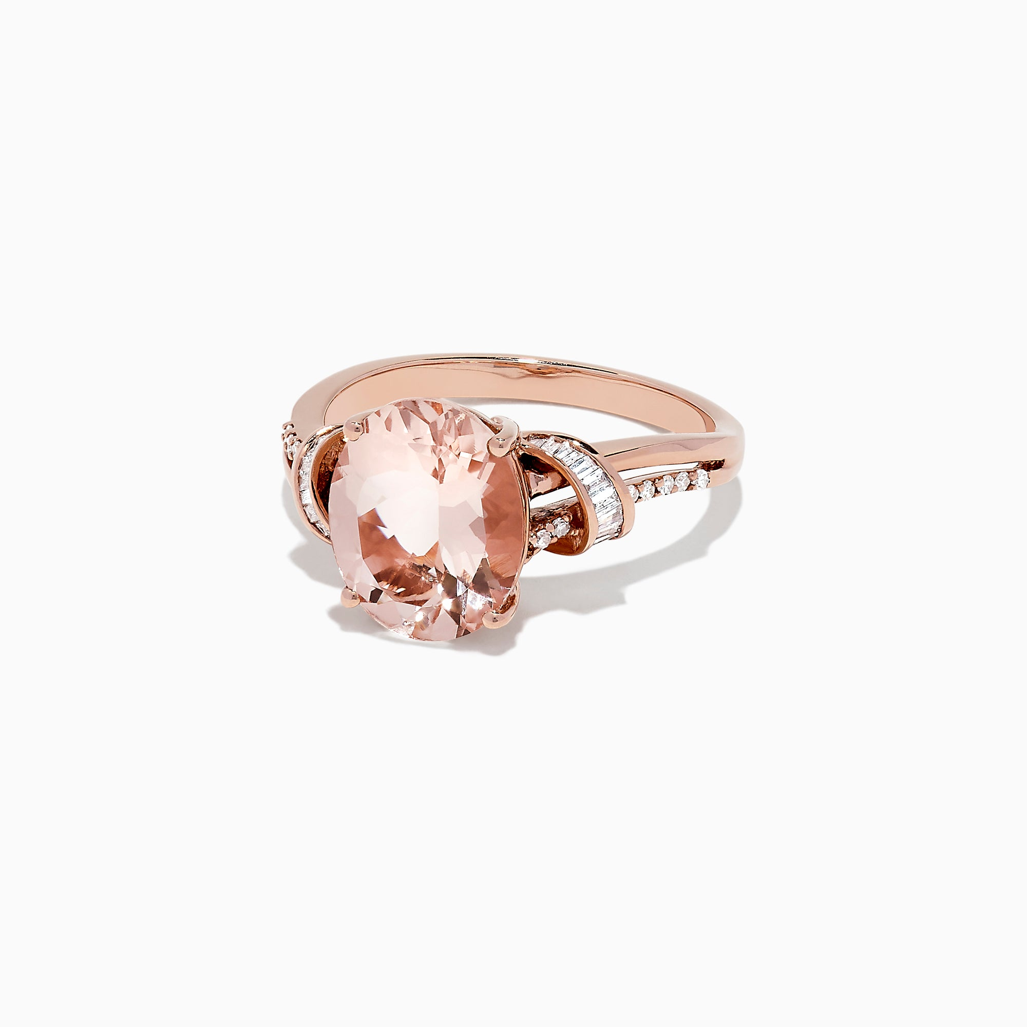 Effy Blush 14K Rose Gold Morganite and Diamond Ring, 3.37 TCW