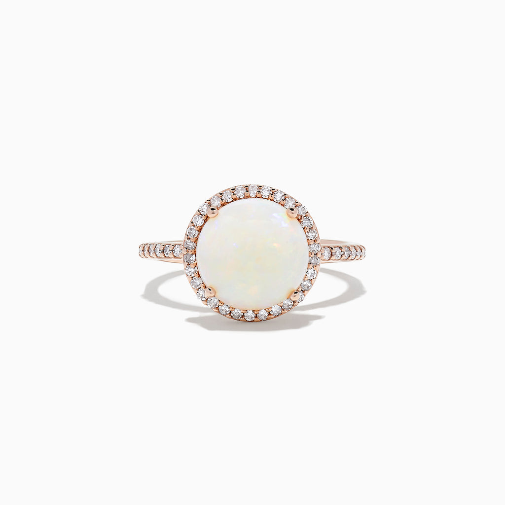 Effy Aurora 14K Rose Gold Opal and Diamond Ring, 2.62 TCW