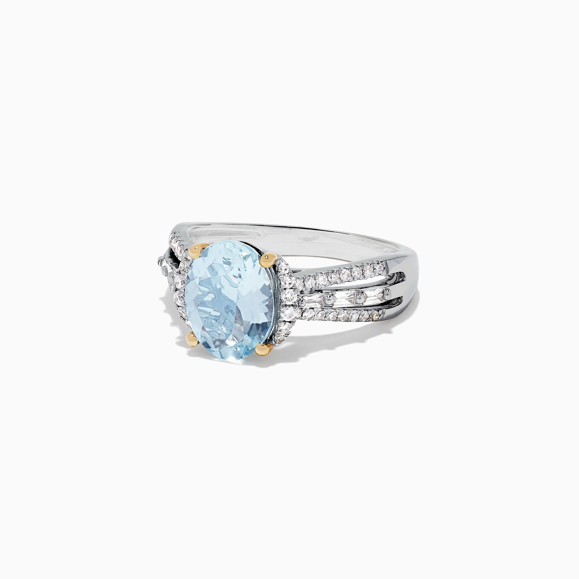 Effy Aquarius 14K White Gold Aquamarine and Diamond Ring, 2.56 TCW