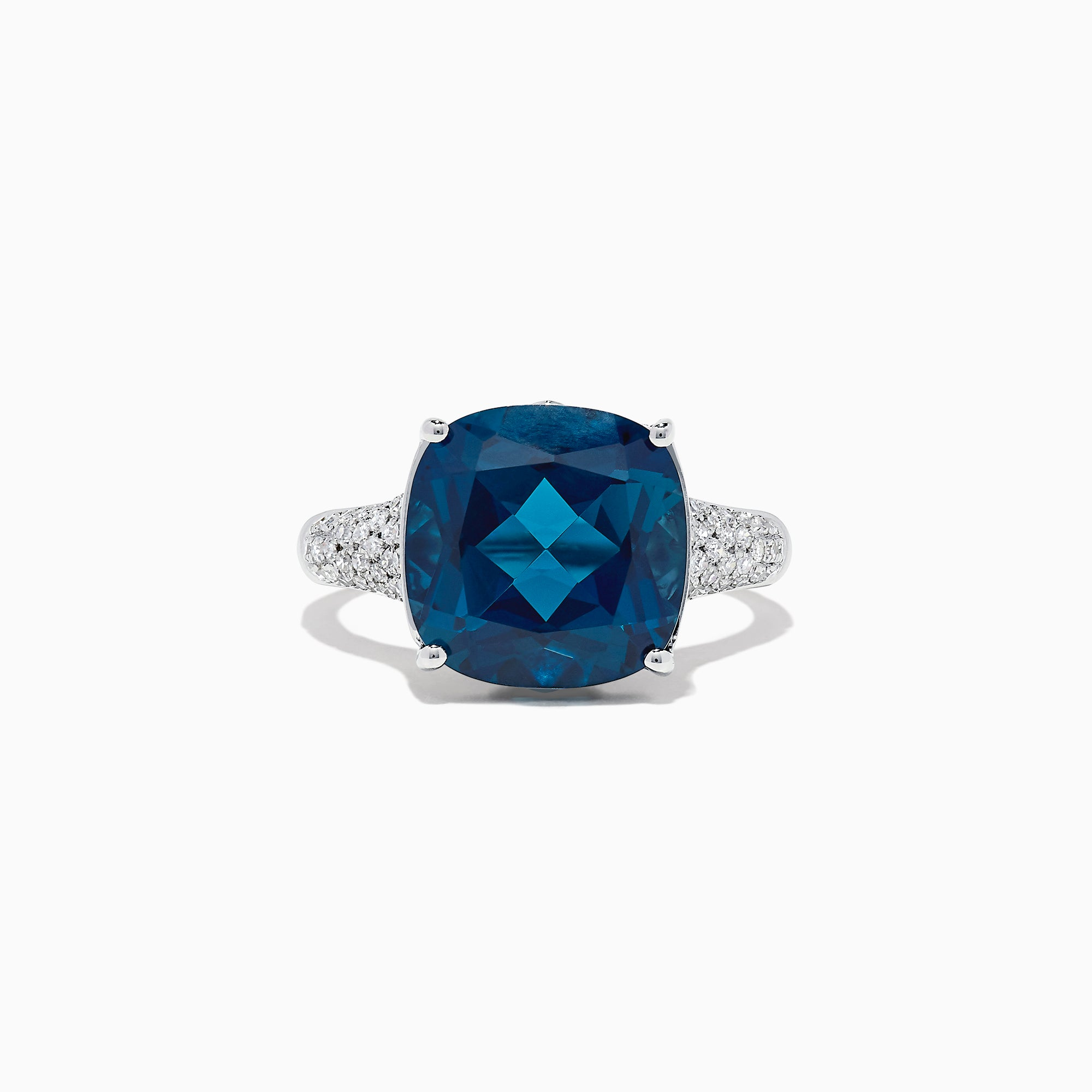 Effy Ocean Bleu 14K Gold London Blue Topaz and Diamond Ring, 8.69 TCW