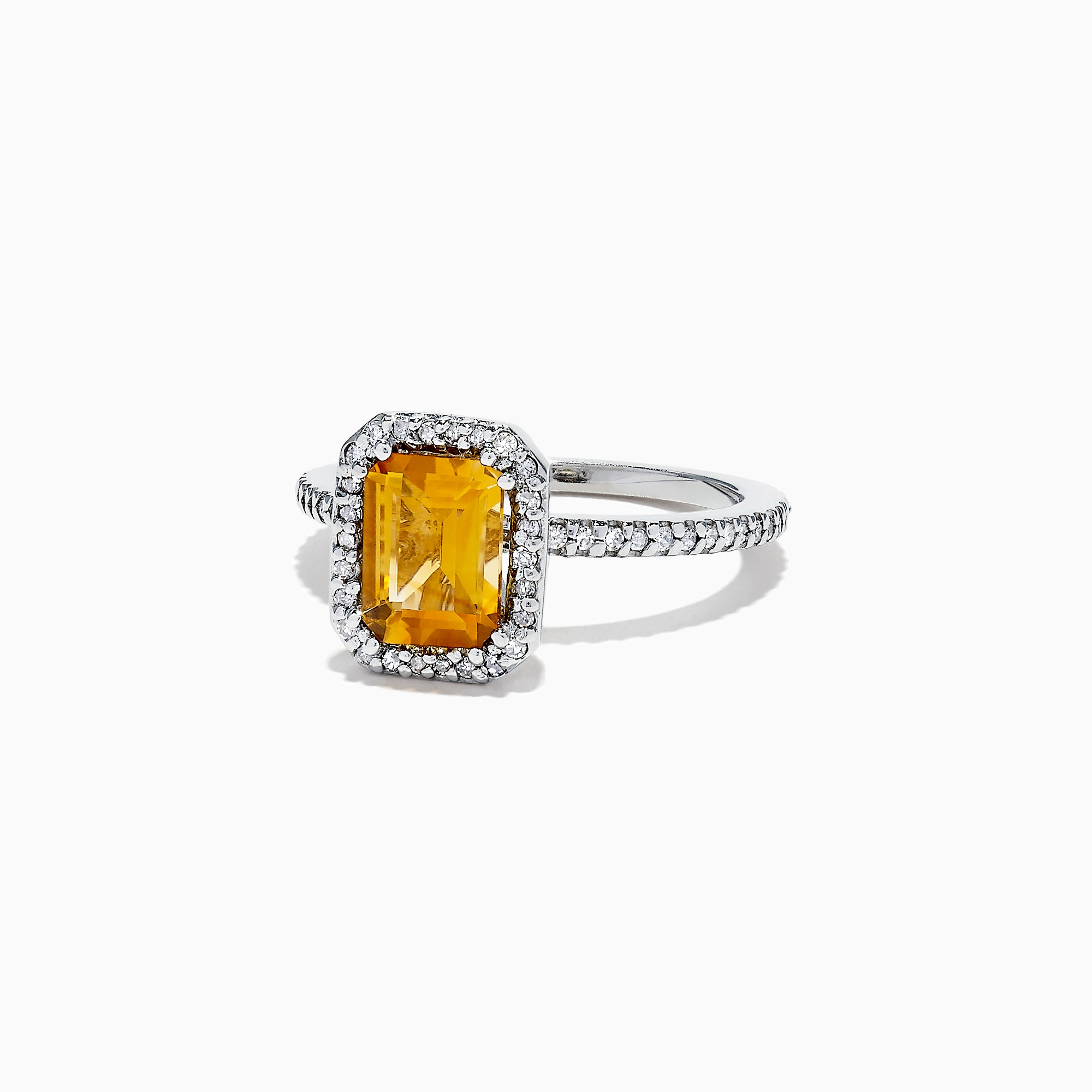 Effy 14K White Gold Citrine and Diamond Ring, 1.68 TCW