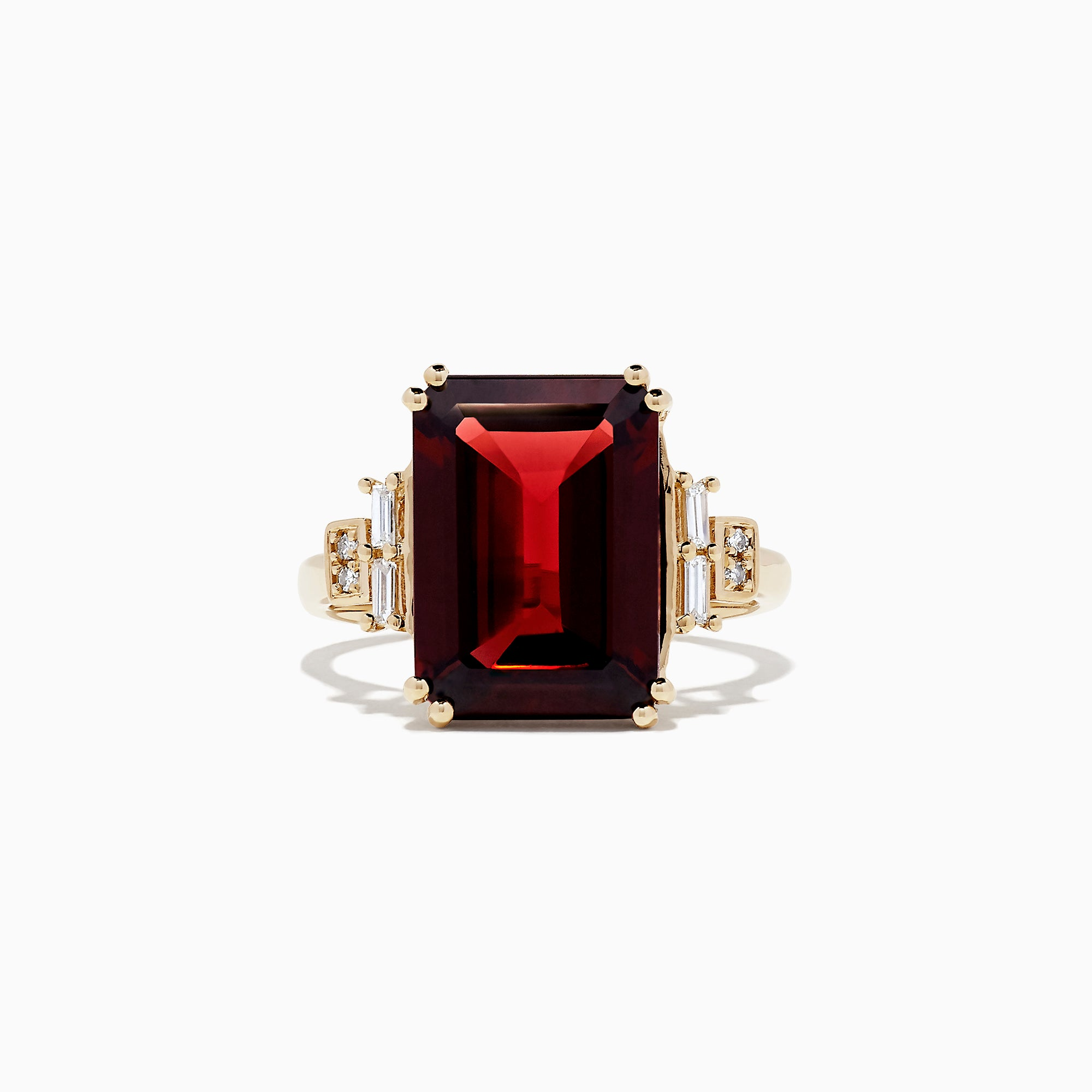 Effy Bordeaux 14K Yellow Gold Rhodolite Garnet and Diamond Ring, 8.50 TCW