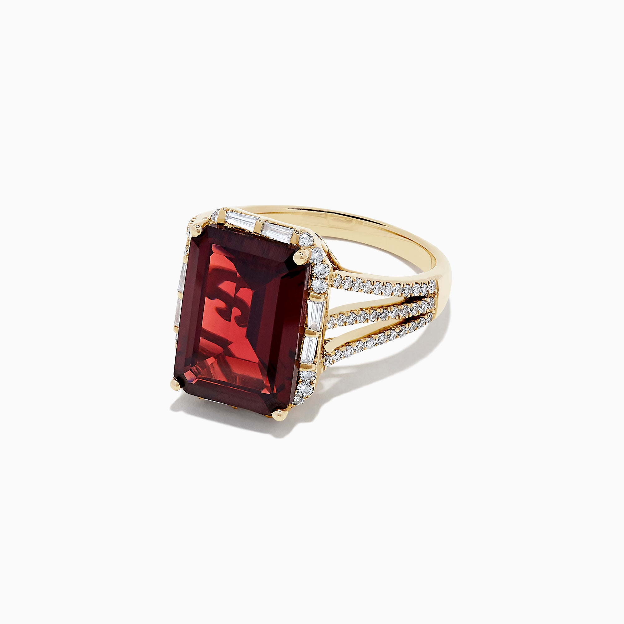 Effy Bordeaux 14K Yellow Gold Garnet and Diamond Cocktail Ring, 8.37 TCW