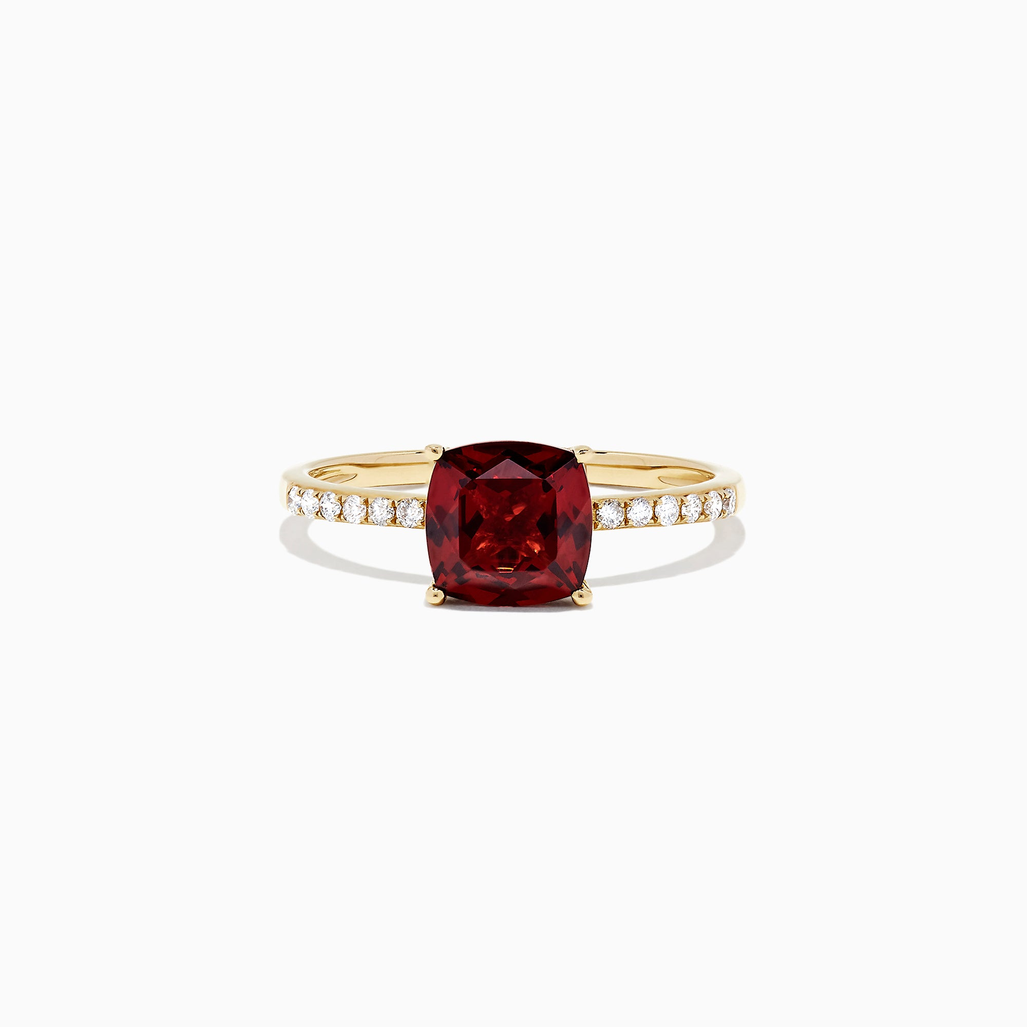 Effy Bordeaux 14K Yellow Gold Garnet and Diamond Ring, 1.66 TCW