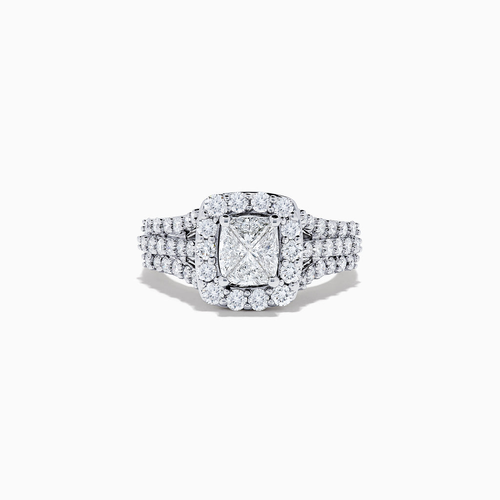 14K White Gold Diamond Ring, 2.00 TCW