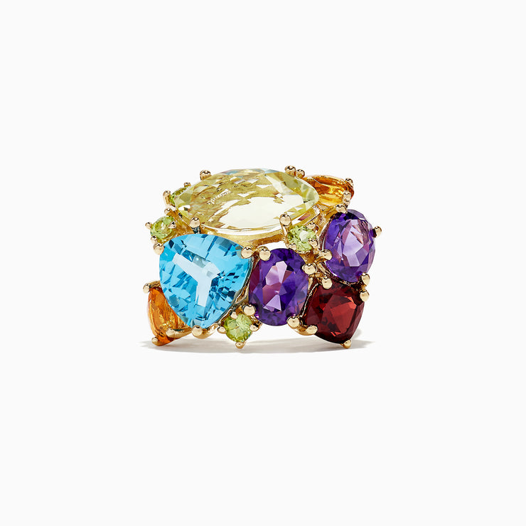 Effy 14K Yellow Gold Multi Gemstone Ring, 14.05 TCW