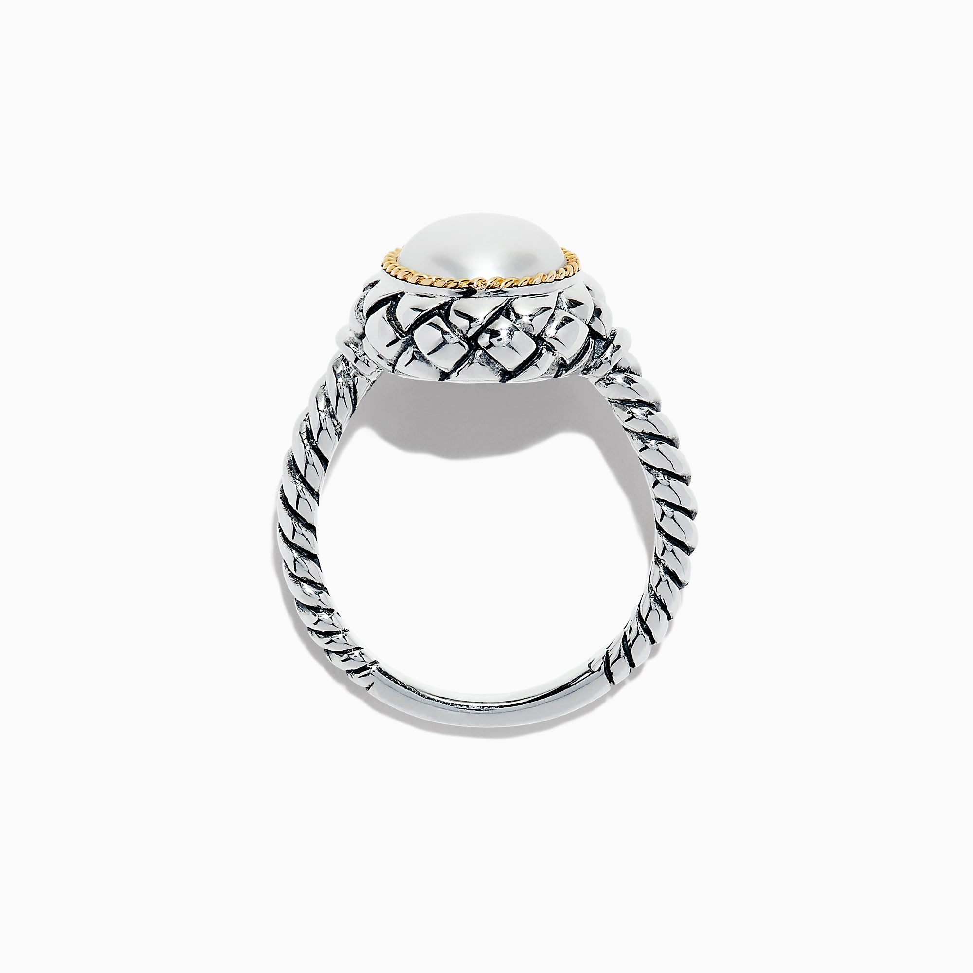 Effy 925 Sterling Silver & 18K Yellow Gold Cultured Fresh Water Pearl Ring