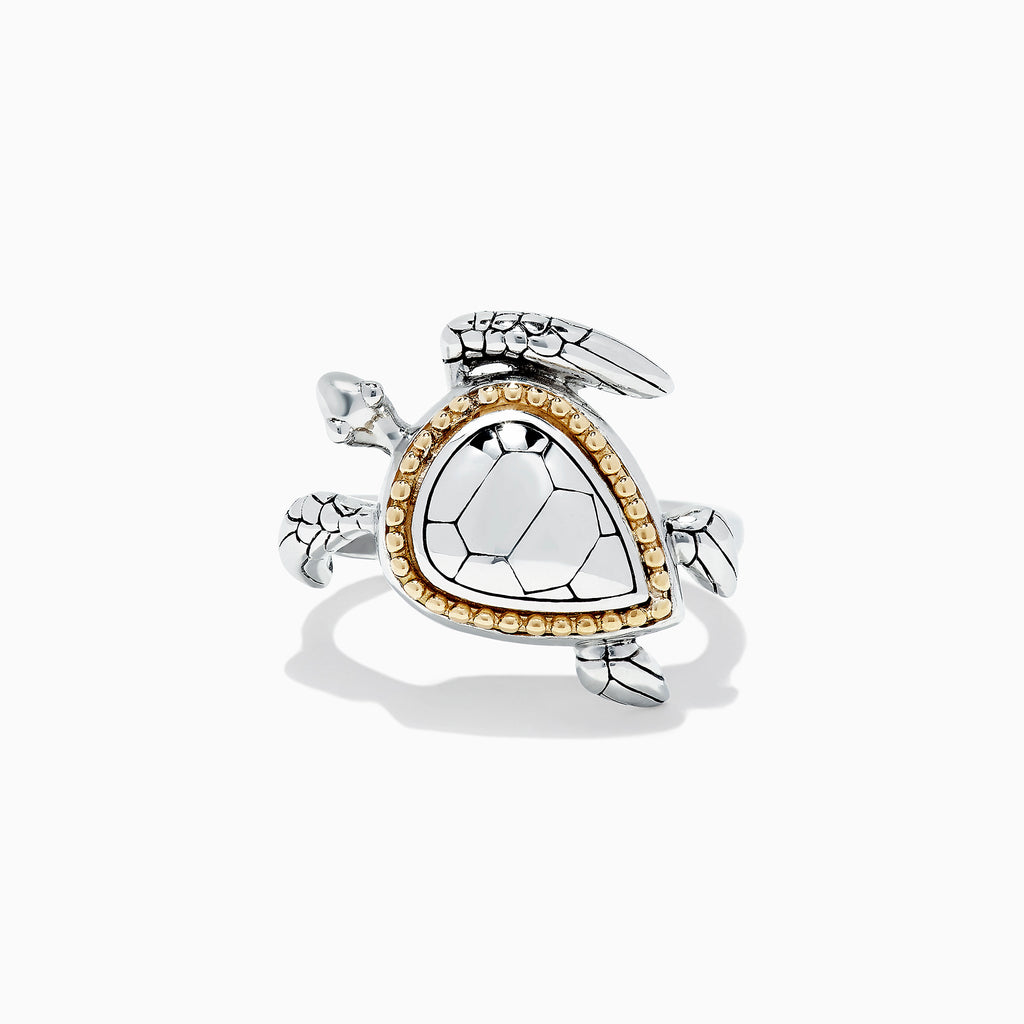 Effy Seaside Sterling Silver and 18K Gold Turtle Ring