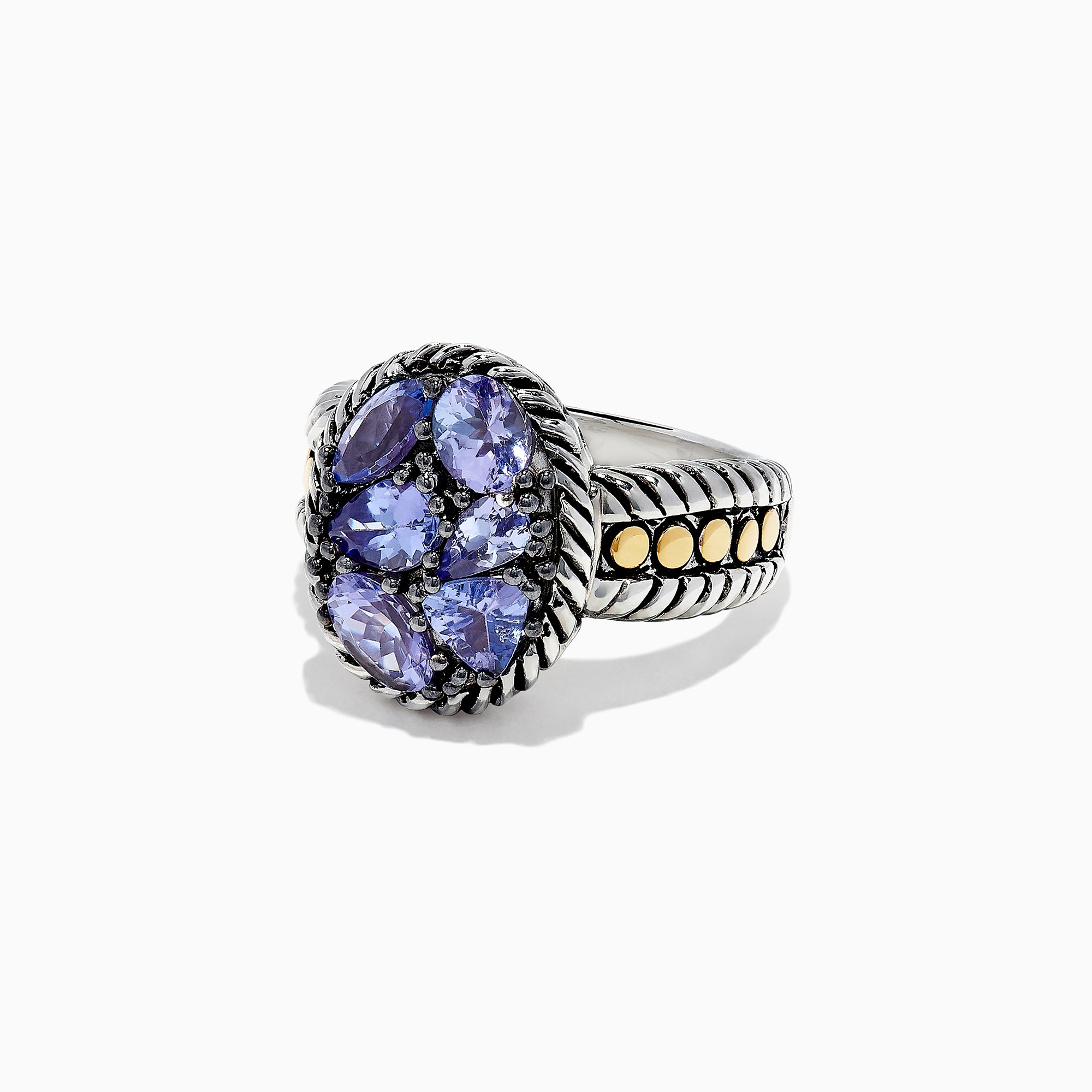 Effy Tanzanite Royale Silver & 18K Gold Tanzanite Ring, 2.50 TCW
