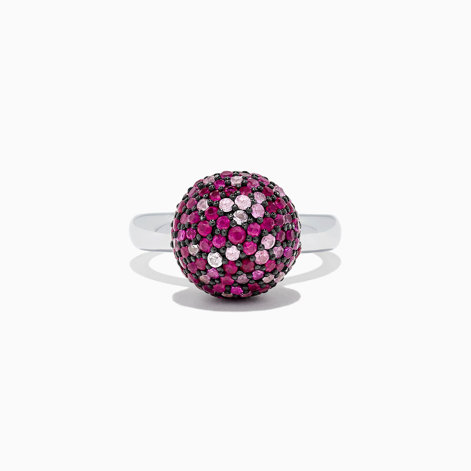 Effy Splash Sterling Silver Pink Sapphire Ball Ring, 2.70 TCW