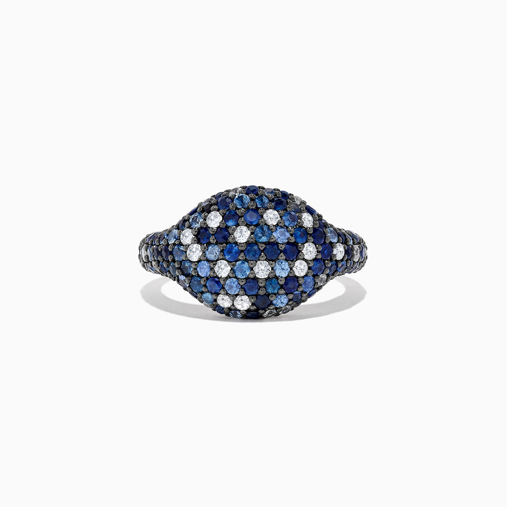 Effy Splash Sterling Silver Blue Sapphire Ring, 2.25 TCW