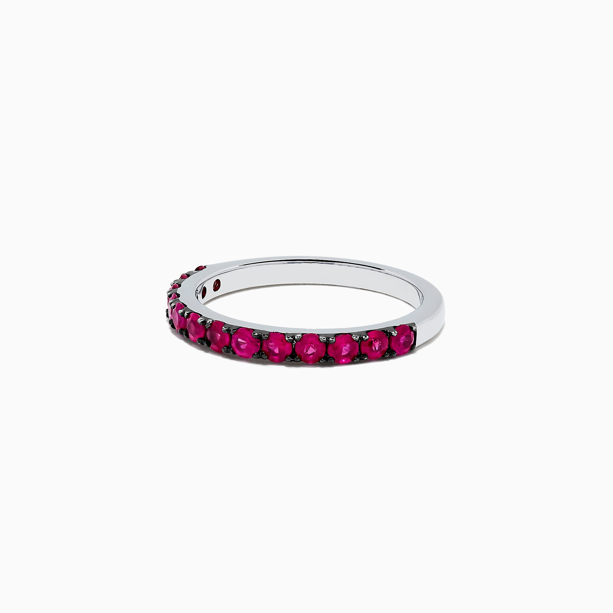 Effy 925 Sterling Silver Ruby Band, 0.85 TCW