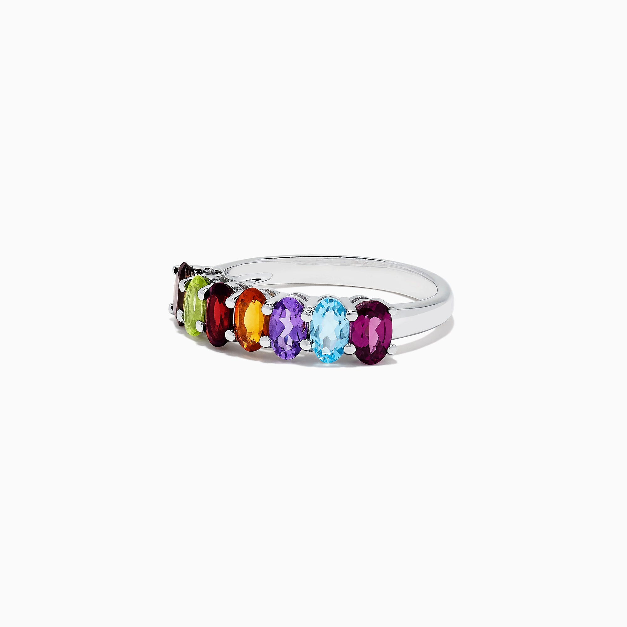 Effy Mosaic Sterling Silver Multi Gemstone Ring, 1.66 TCW