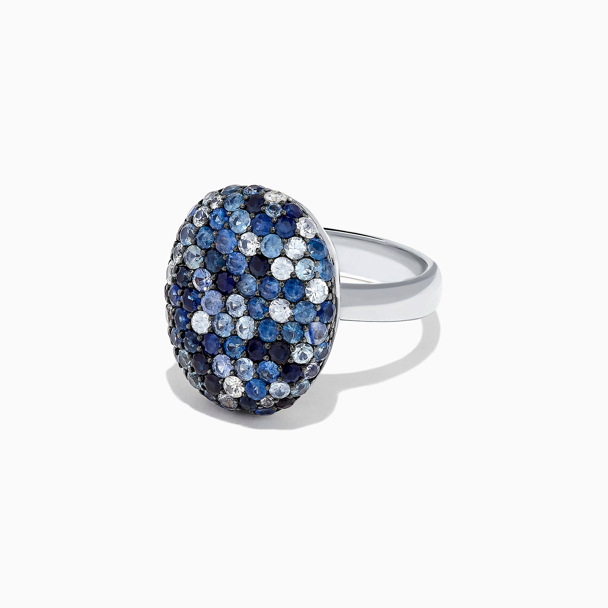 Effy Splash Sterling Silver Blue Sapphire Oval Ring, 3.00 TCW