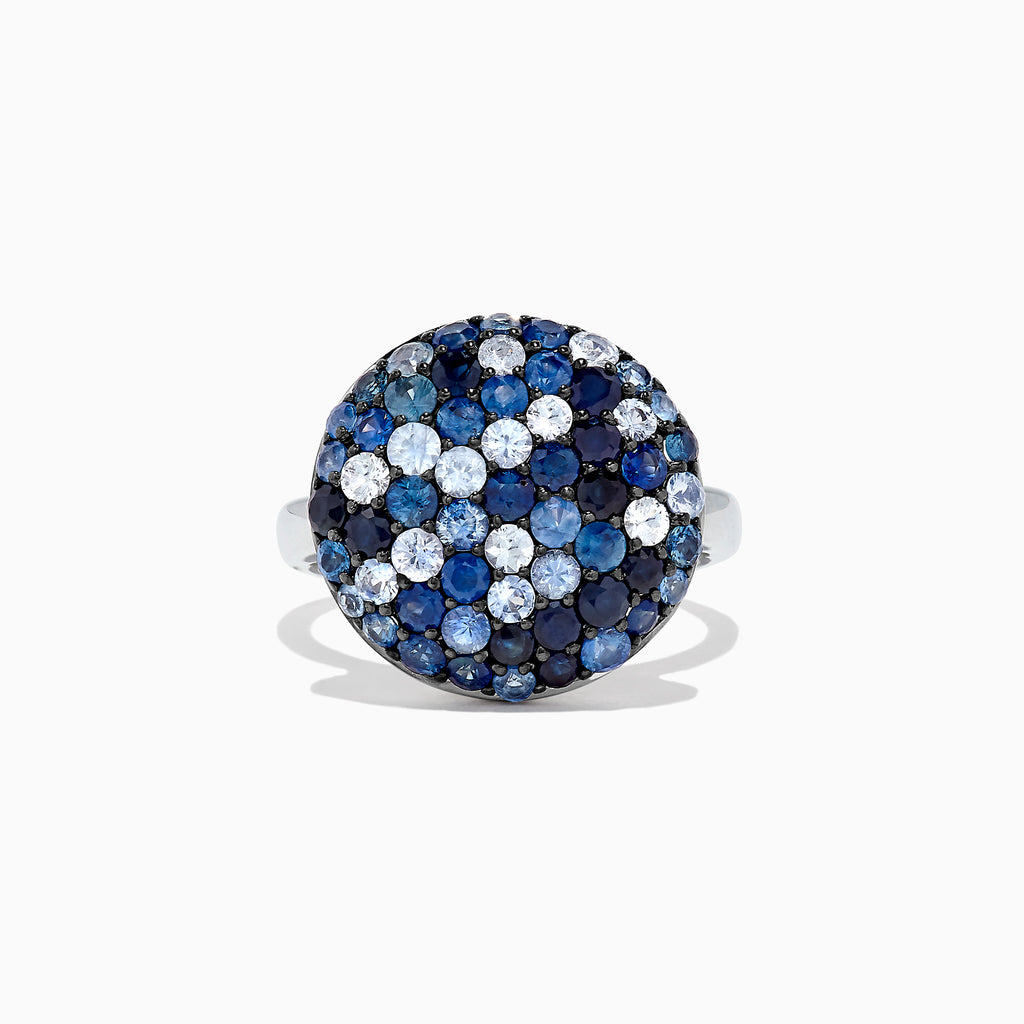 Effy Splash Sterling Silver Blue Sapphire Circle Ring, 2.95 TCW
