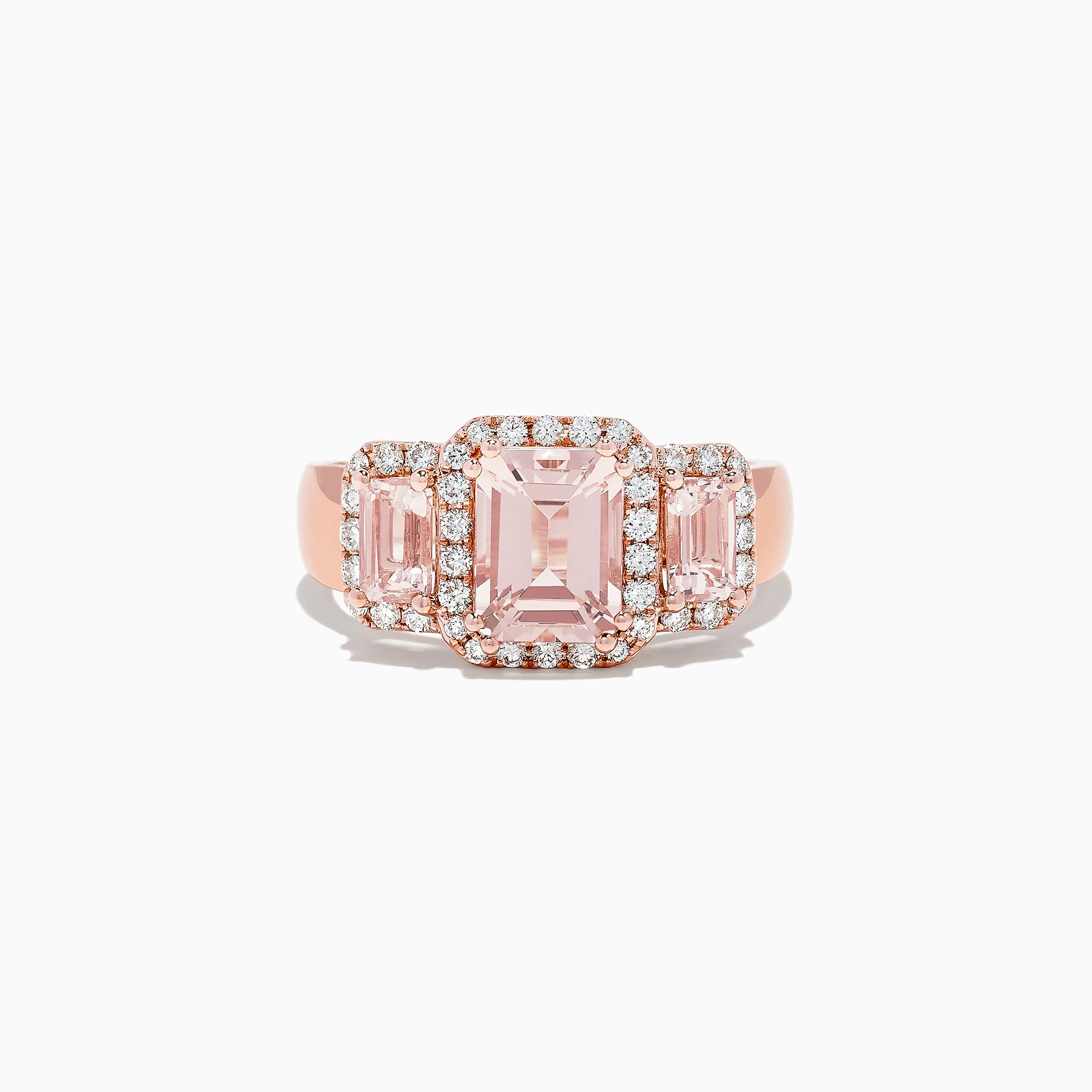 Effy Blush 14K Rose Gold Morganite and Diamond Ring, 2.53 TCW