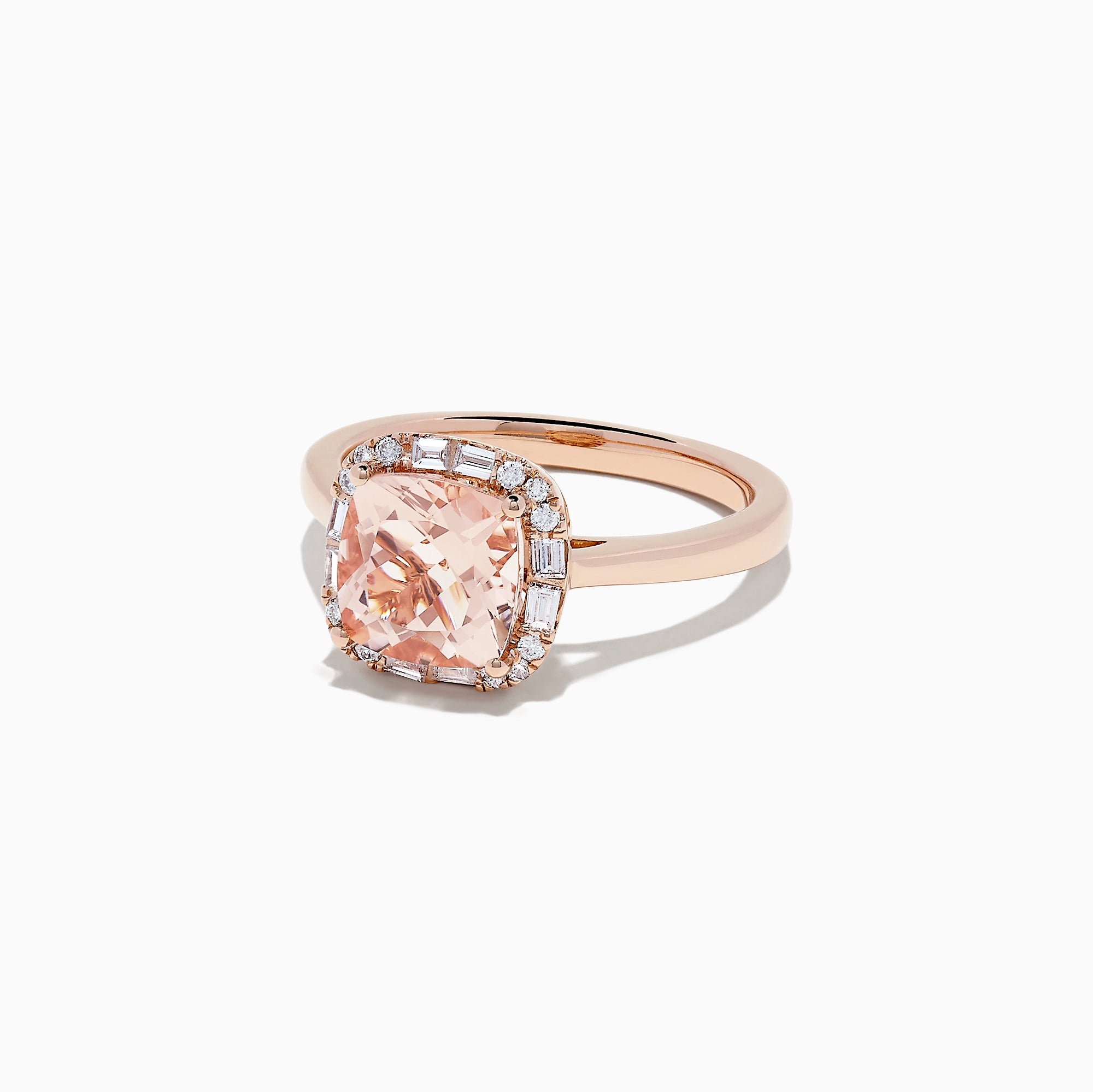 Effy Blush 14K Rose Gold Morganite and Diamond Ring, 2.16 TCW