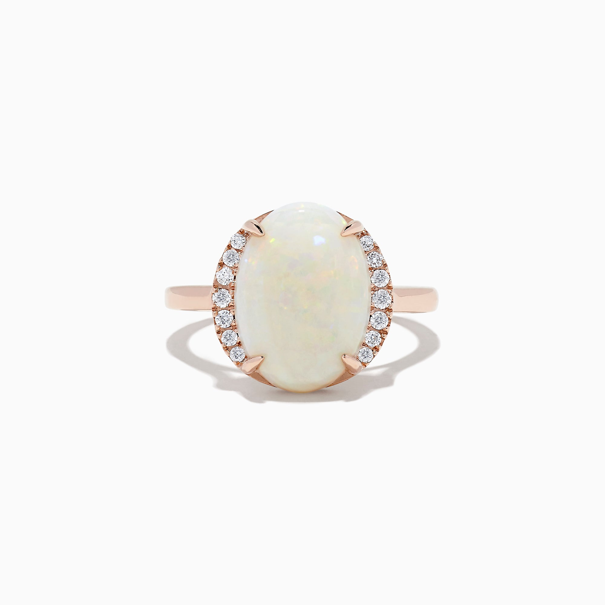 Effy Aurora 14K Rose Gold Opal and Diamond Ring, 4.01 TCW