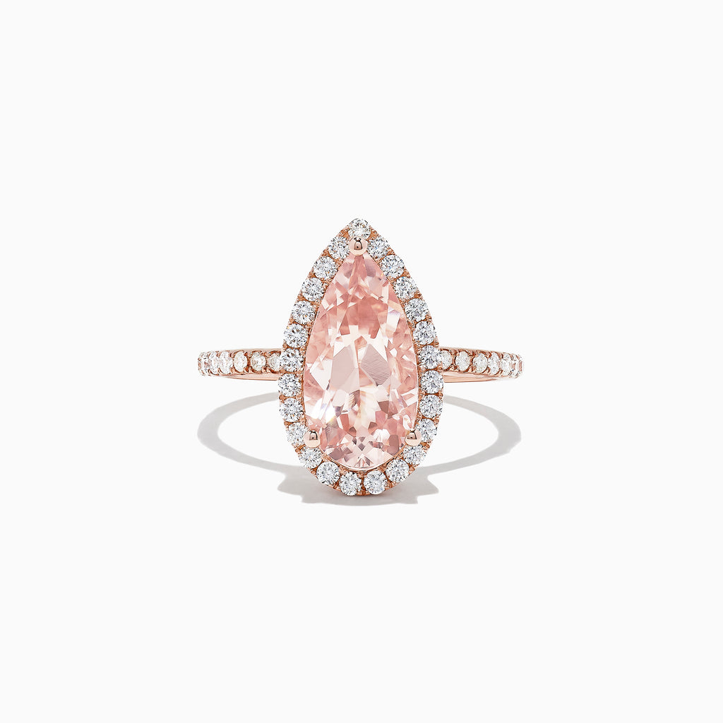 Effy Blush 14K Rose Gold Morganite and Diamond Ring, 3.04 TCW