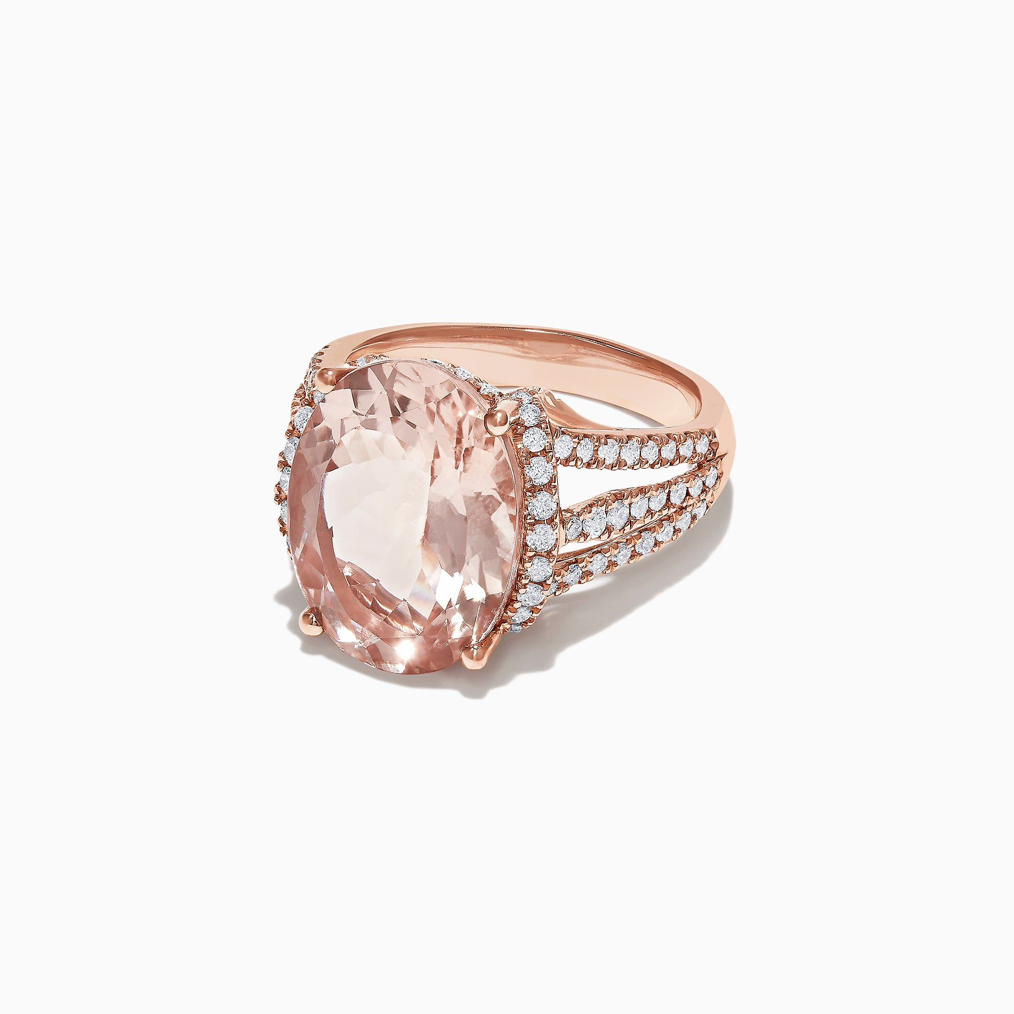 Effy Blush 14K Rose Gold Morganite and Diamond Cocktail Ring, 9.60 TCW