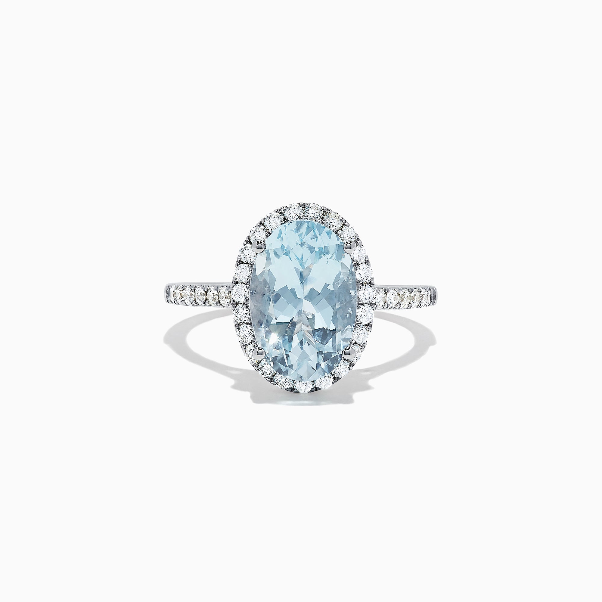 Effy Aquarius 14K White Gold Aquamarine and Diamond Ring, 3.45 TCW