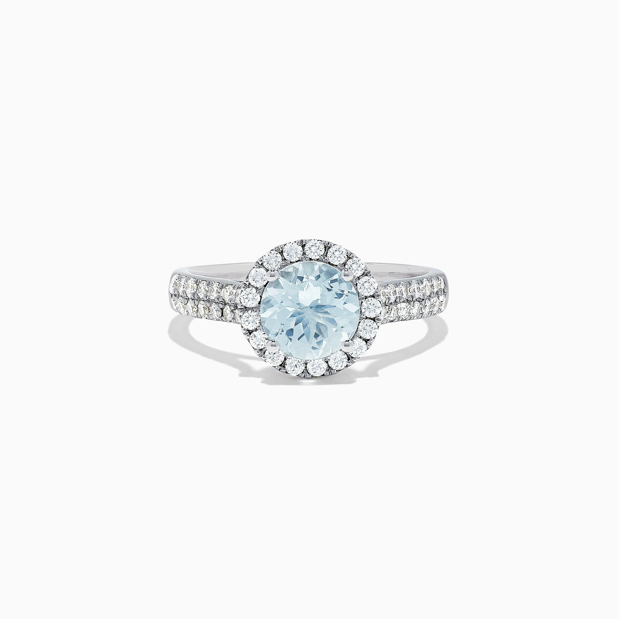 Effy Aquarius 14K White Gold Aquamarine and Diamond Ring, 1.59 TCW