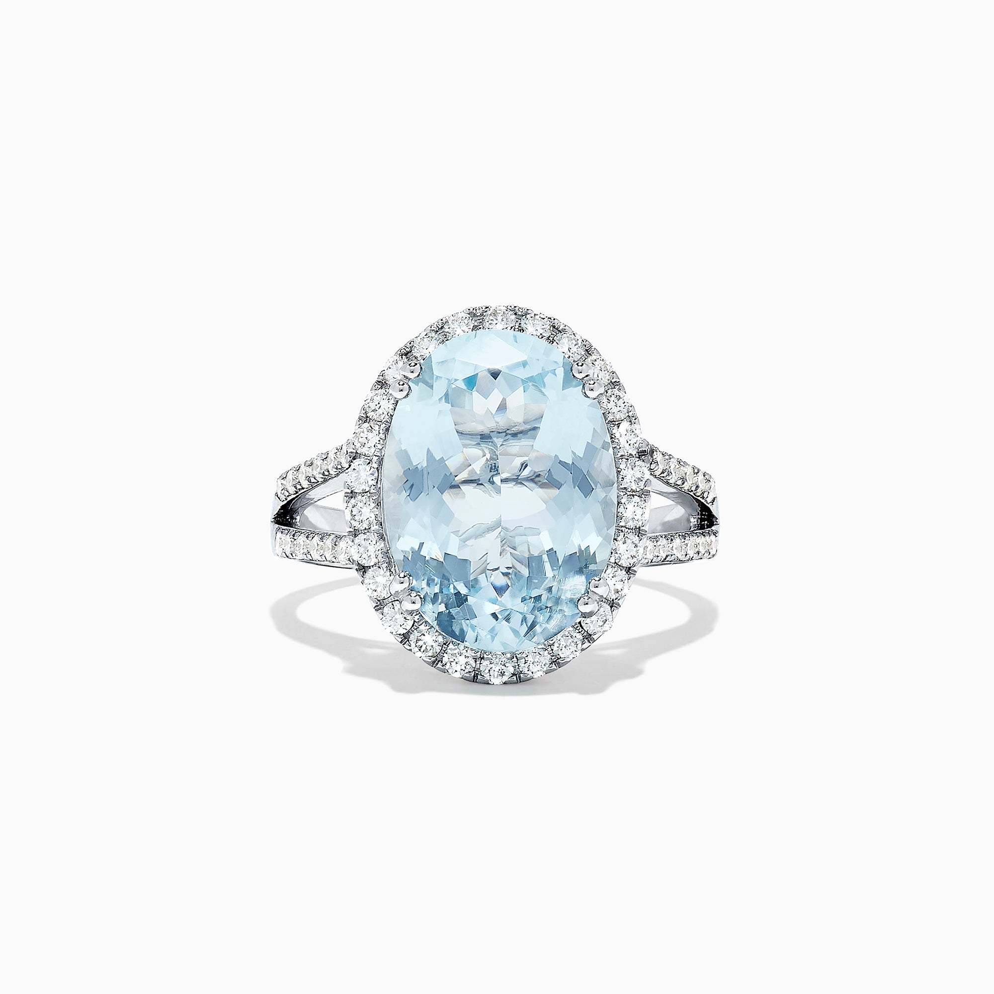 Effy Aquarius 14K White Gold Aquamarine and Diamond Cocktail Ring, 5.38 TCW