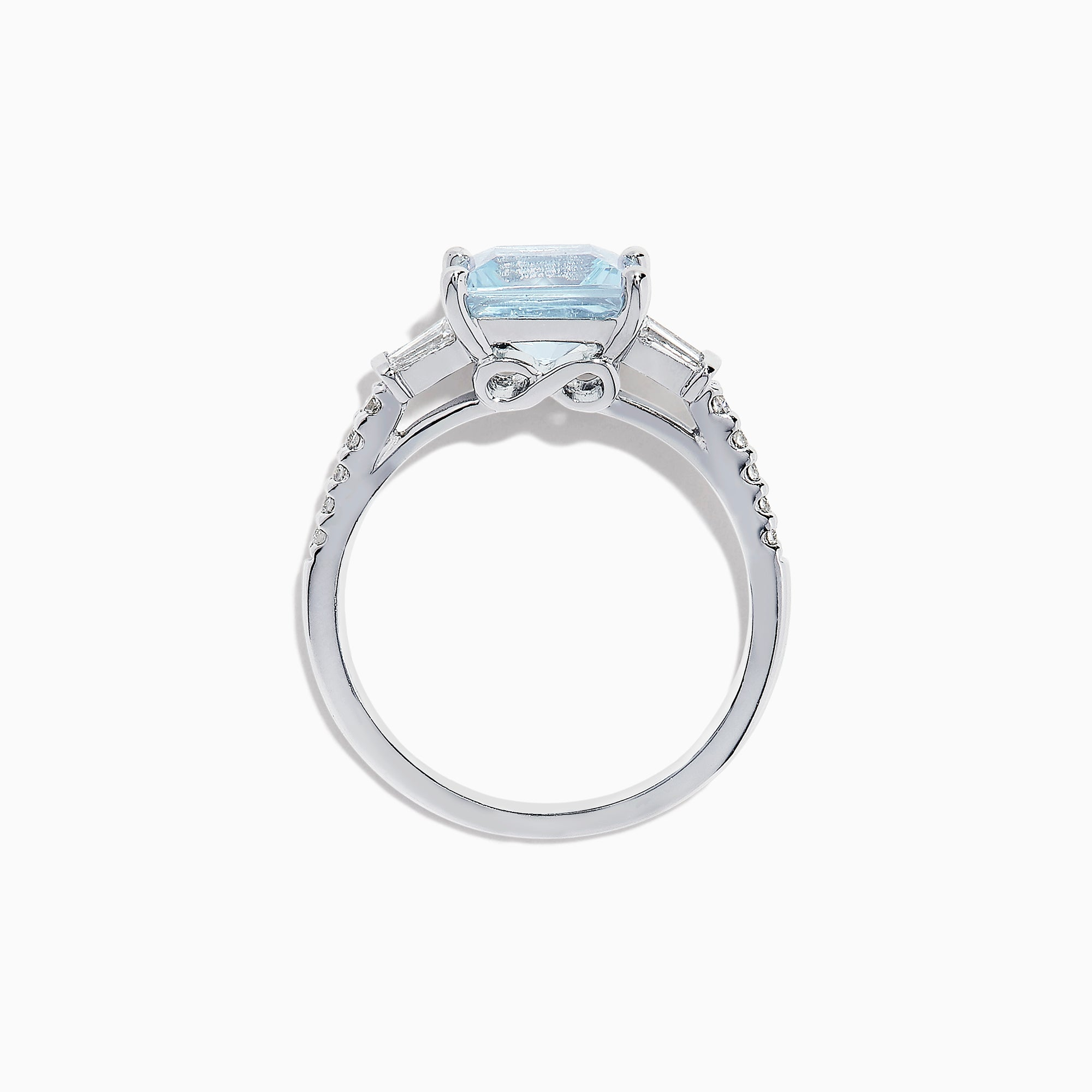 Effy Aquarius 14K White Gold Aquamarine and Diamond Ring, 2.41 TCW