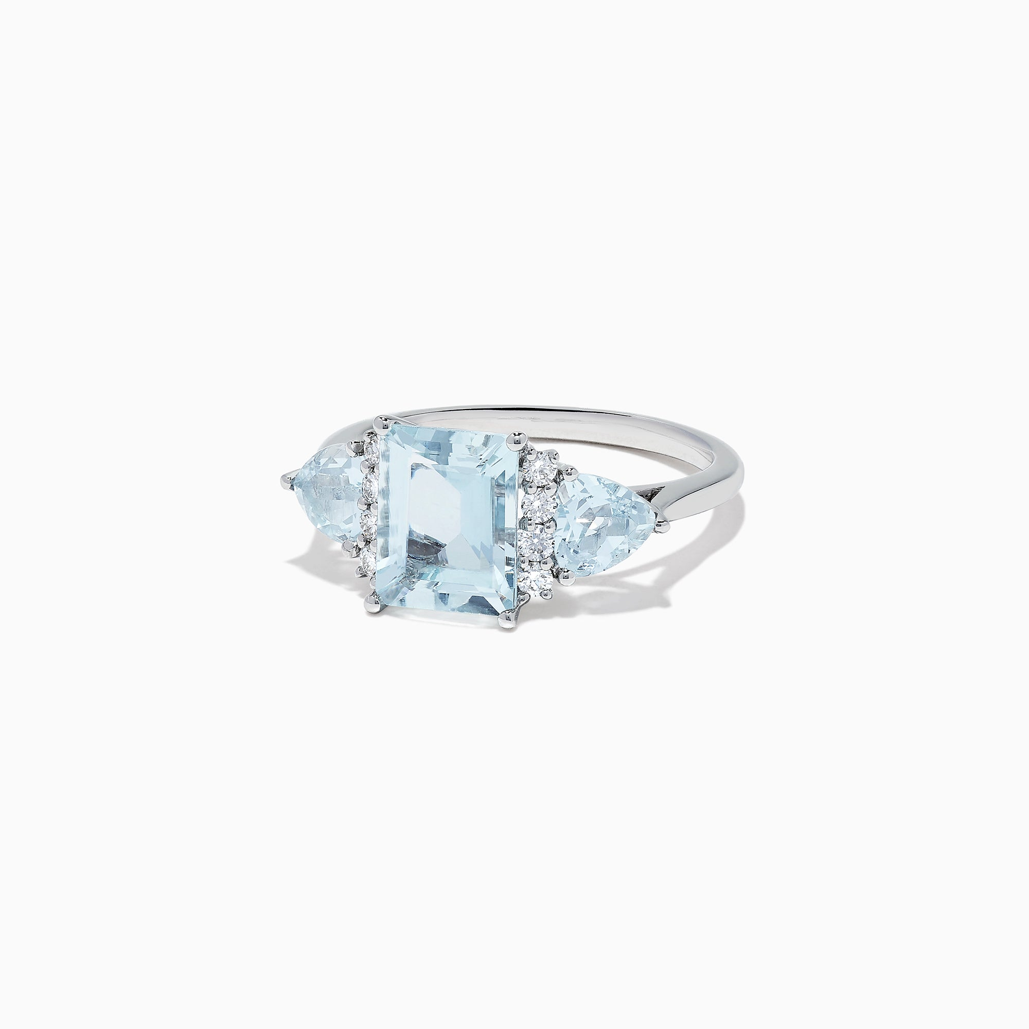 Effy Aquarius 14K White Gold Aquamarine and Diamond Ring, 3.30 TCW
