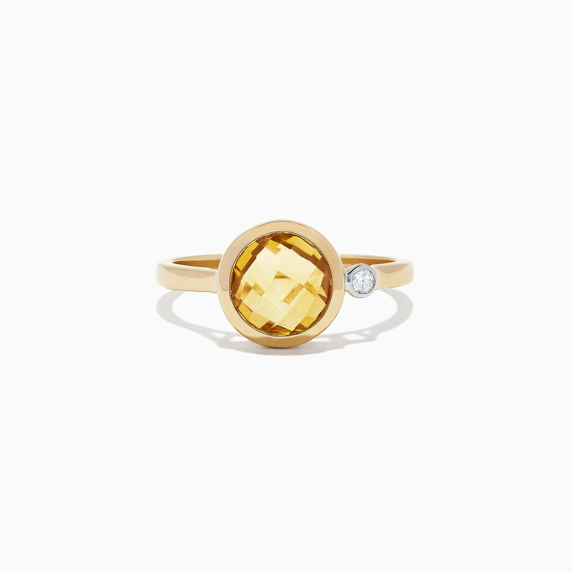 Effy Sunset 14K Yellow Gold Citrine and Diamond Ring, 1.53 TCW