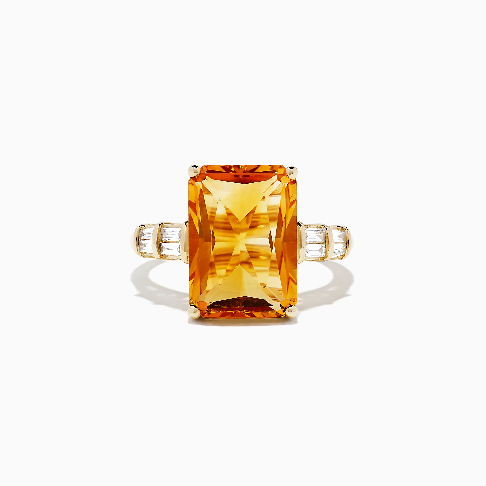 Effy Sunset 14K Yellow Gold Citrine and Diamond Ring, 7.02 TCW