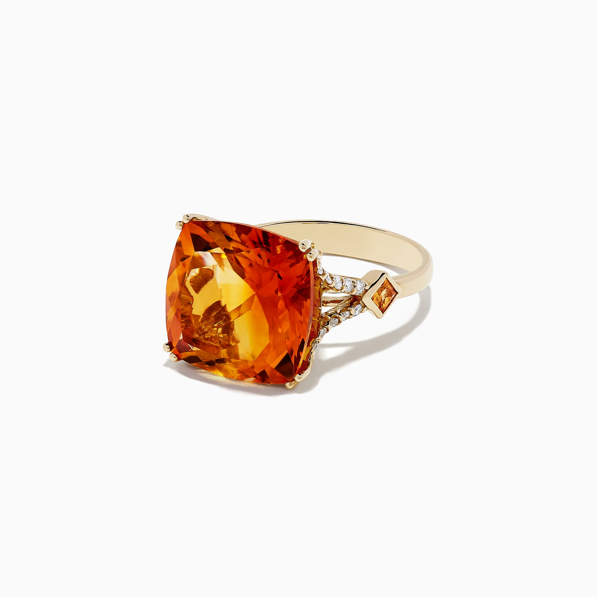 Effy Sunset 14K Yellow Gold Citrine and Diamond Cocktail Ring, 11.04 TCW