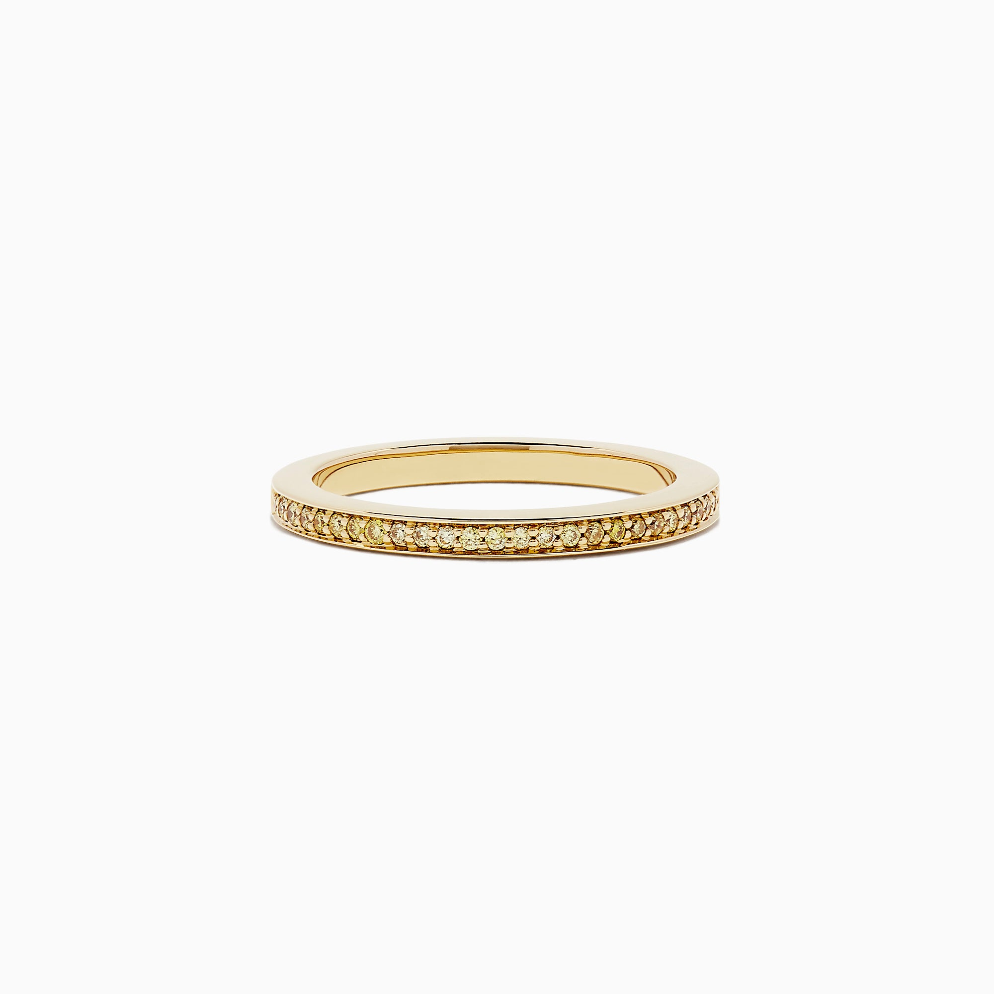 18K Yellow Gold Yellow Diamond Half Eternity Band, 0.13 TCW